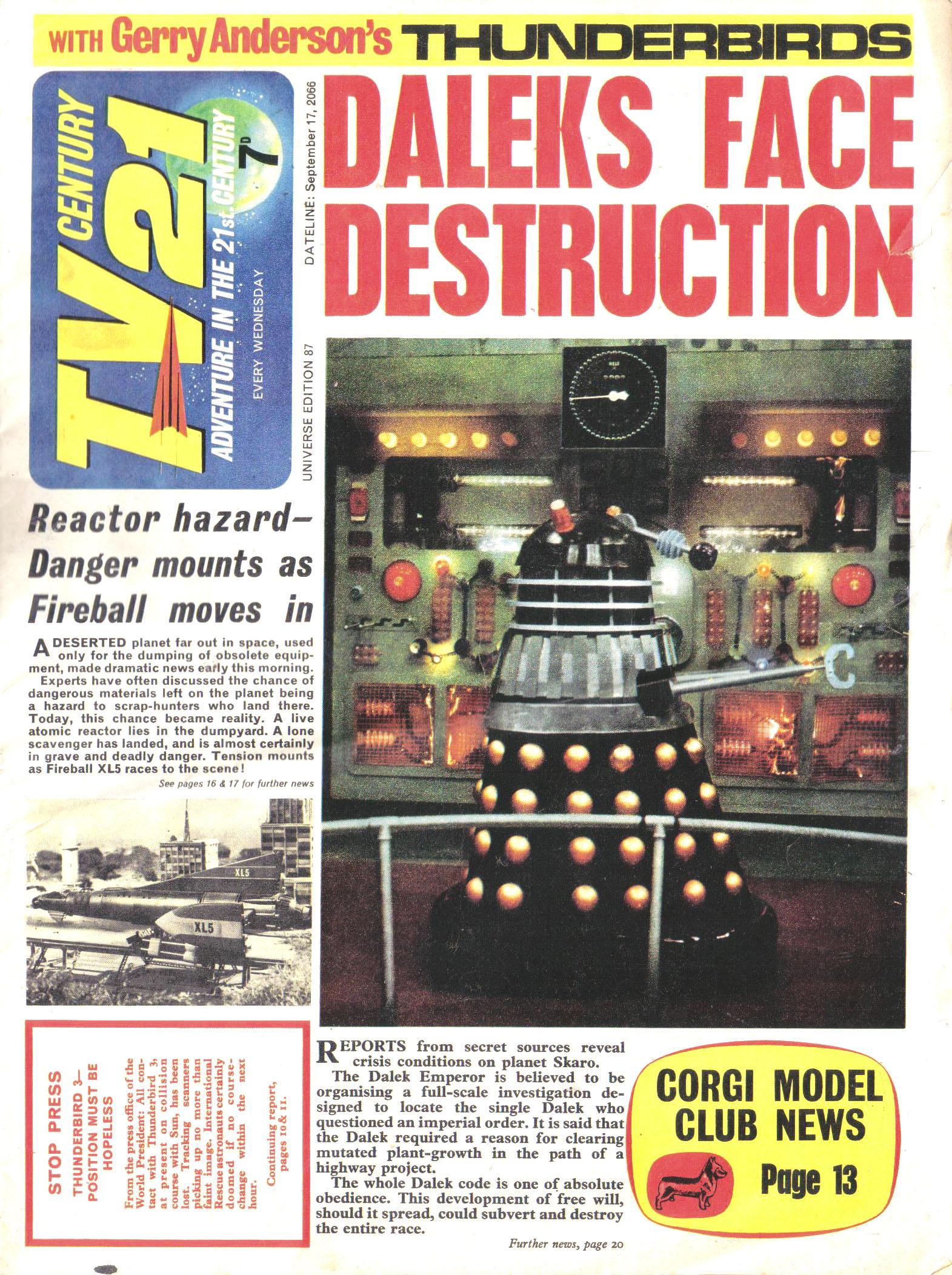 Read online TV Century 21 (TV 21) comic -  Issue #87 - 1