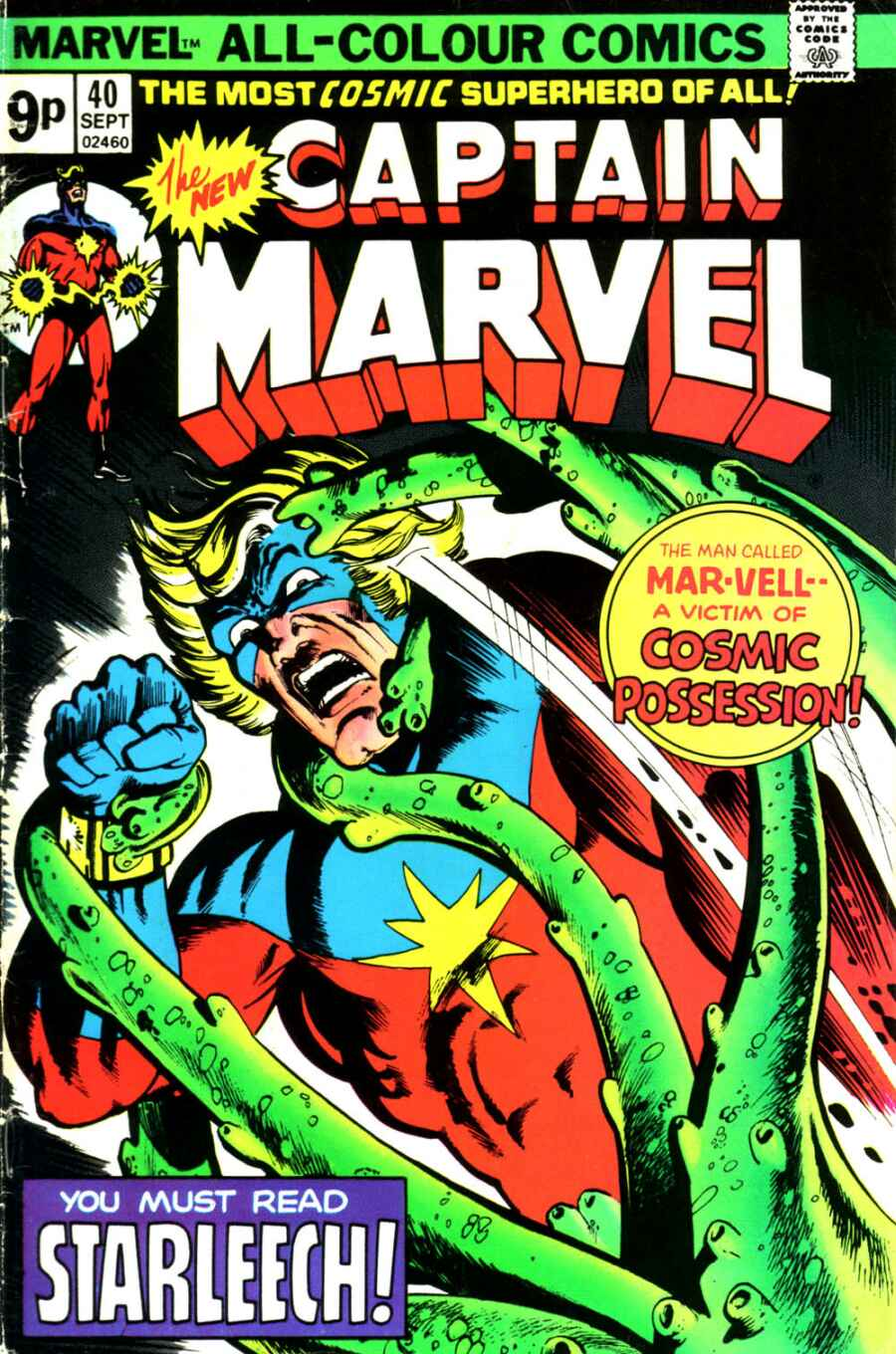 Captain Marvel (1968) issue 40 - Page 1