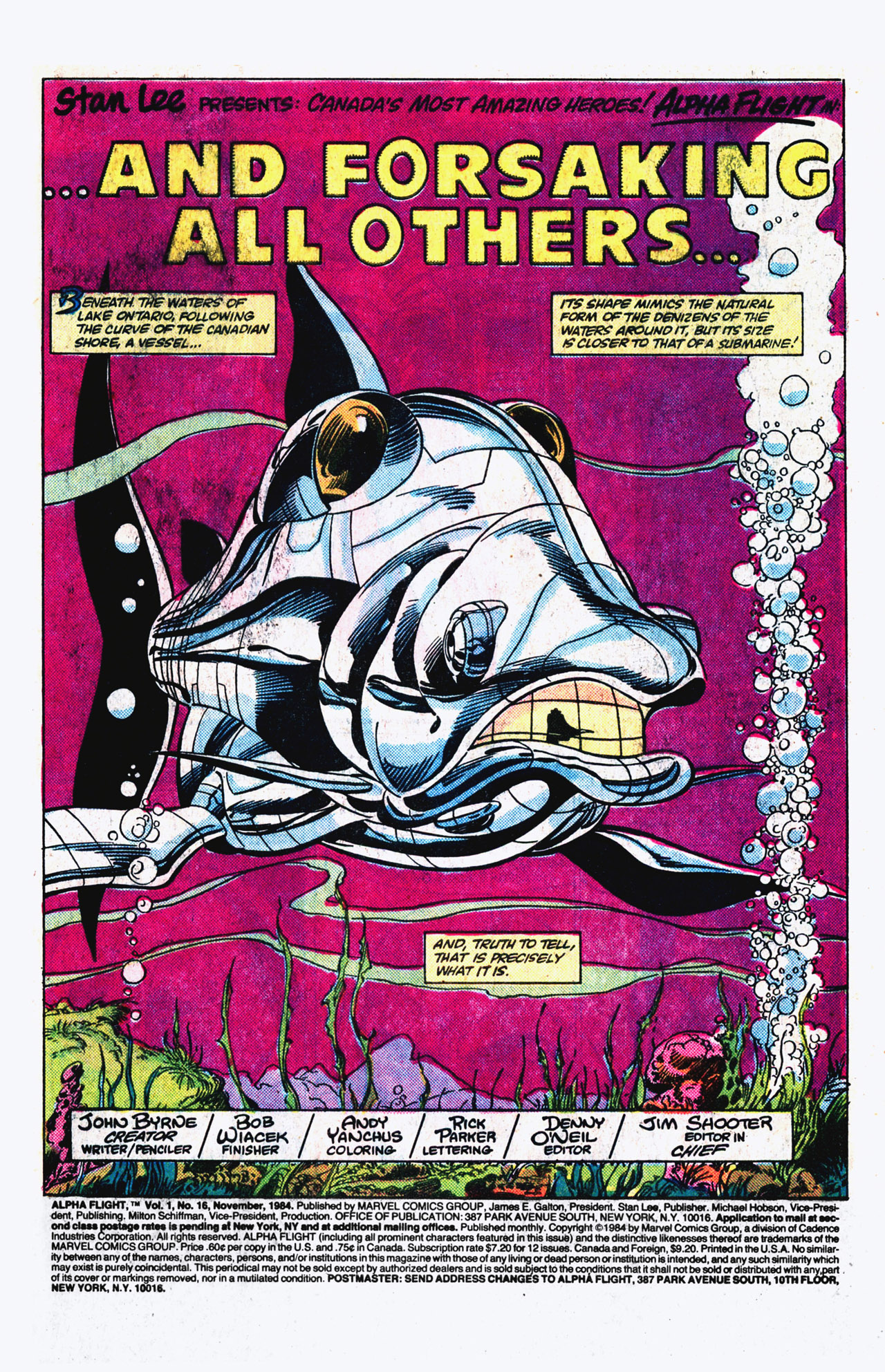 Read online Alpha Flight (1983) comic -  Issue #16 - 2
