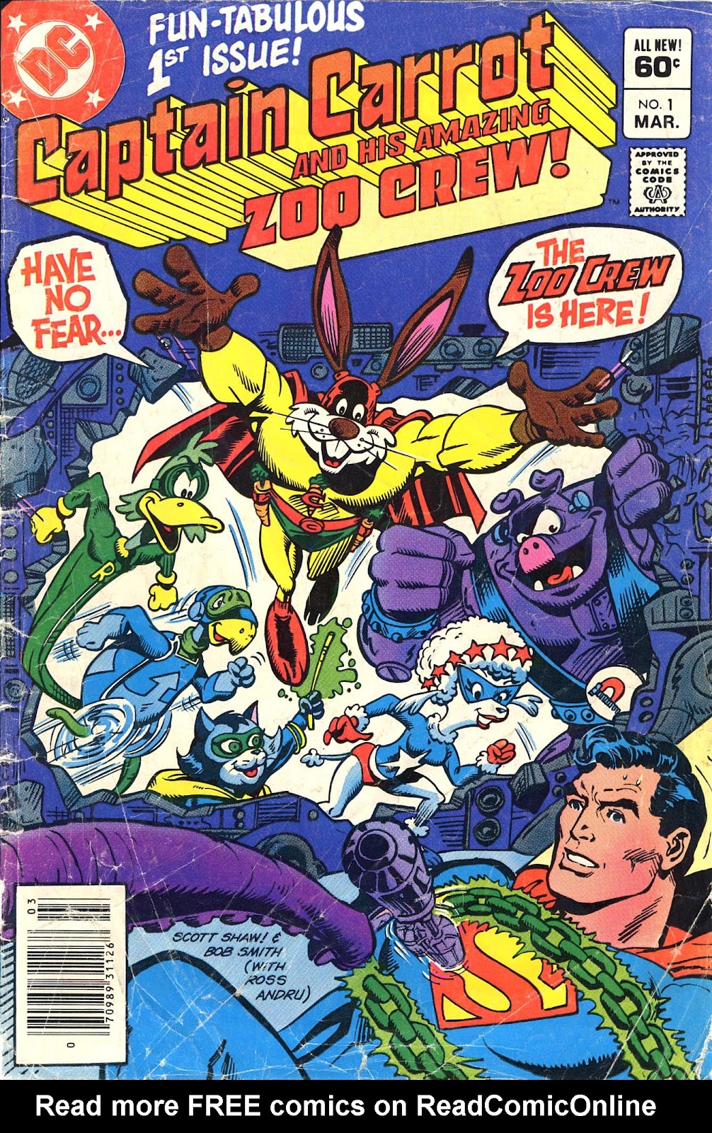 Captain Carrot and His Amazing Zoo Crew! issue 1 - Page 1
