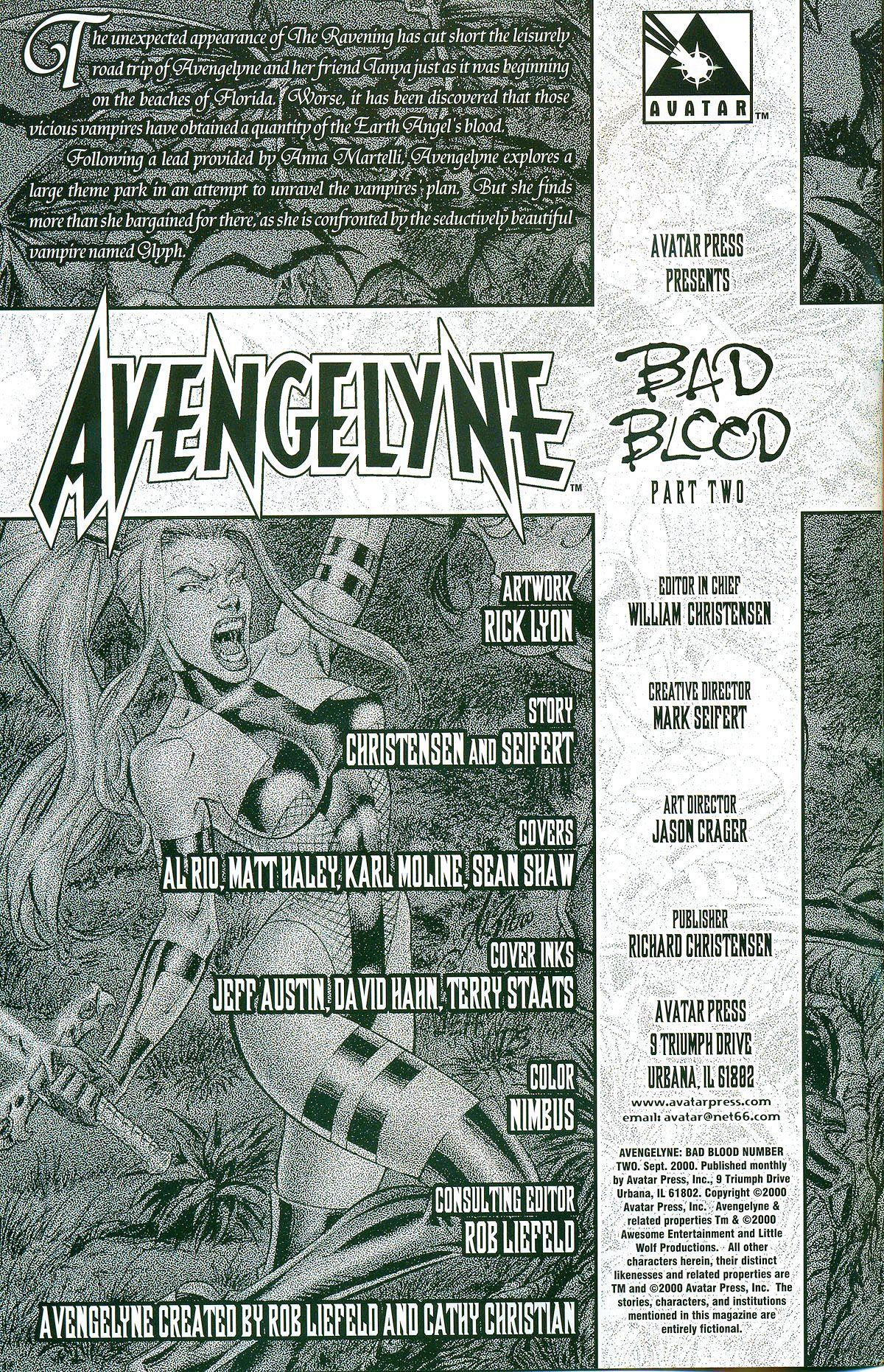 Read online Avengelyne: Bad Blood comic -  Issue #2 - 3