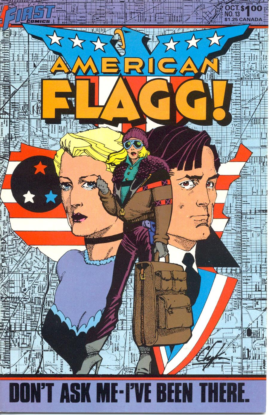 Read online American Flagg! comic -  Issue #13 - 1