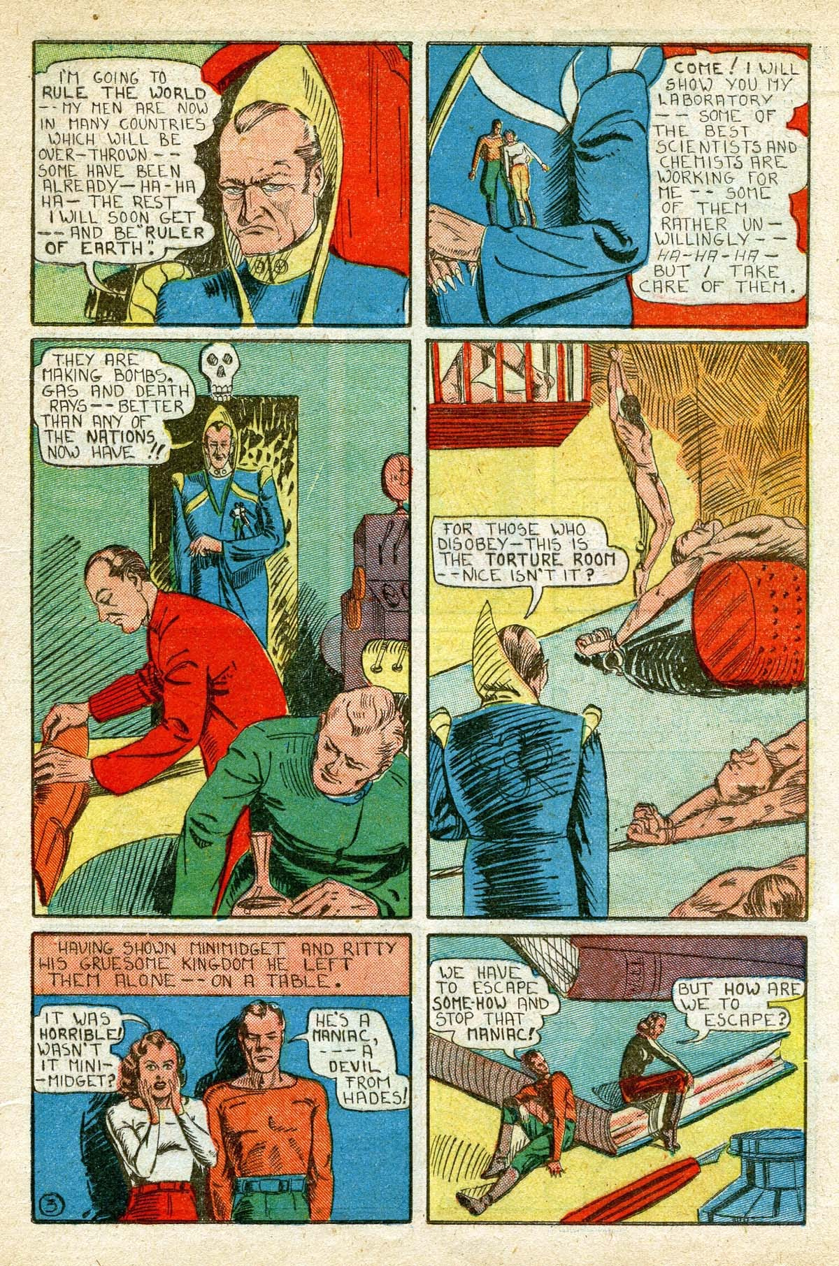 Read online Amazing Man Comics comic -  Issue #8 - 39