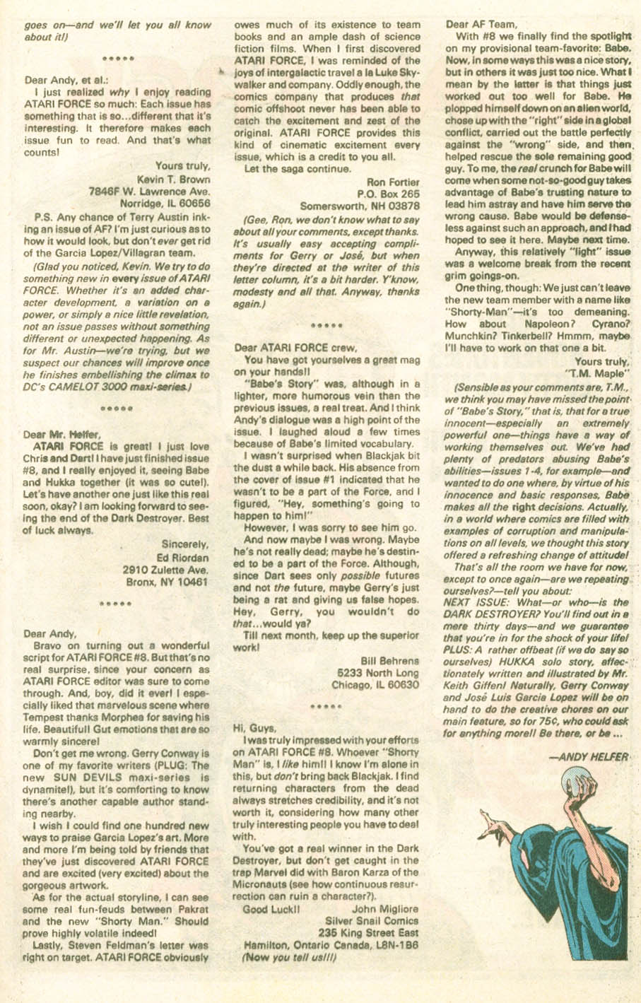 Read online Atari Force (1984) comic -  Issue #11 - 28