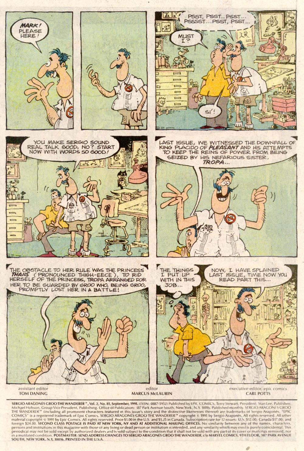 Read online Sergio Aragonés Groo the Wanderer comic -  Issue #81 - 2