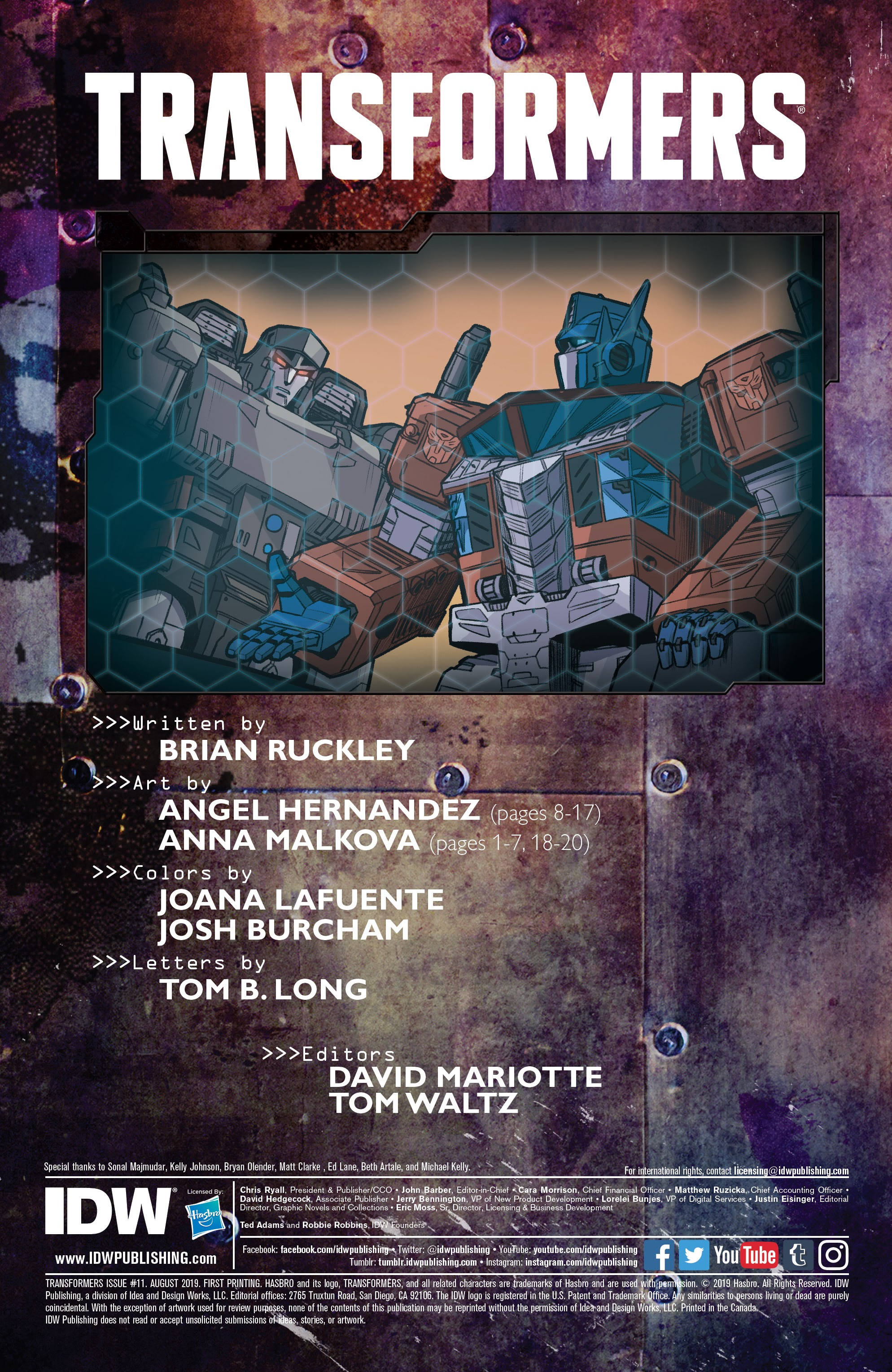 Transformers (2019) #11 - Read Transformers (2019) Issue ...