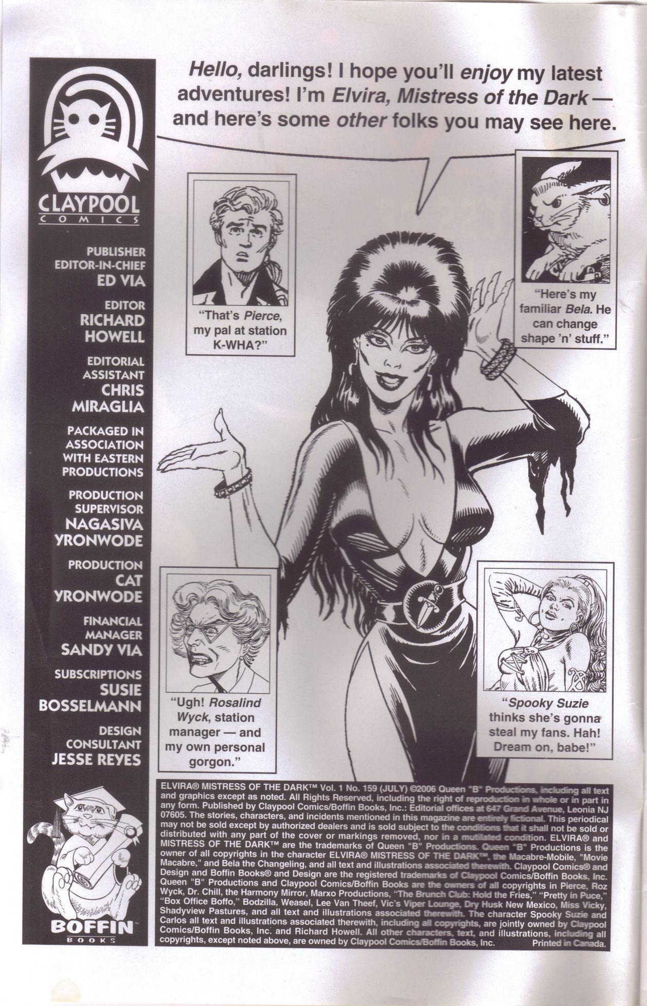 Read online Elvira, Mistress of the Dark comic -  Issue #159 - 2