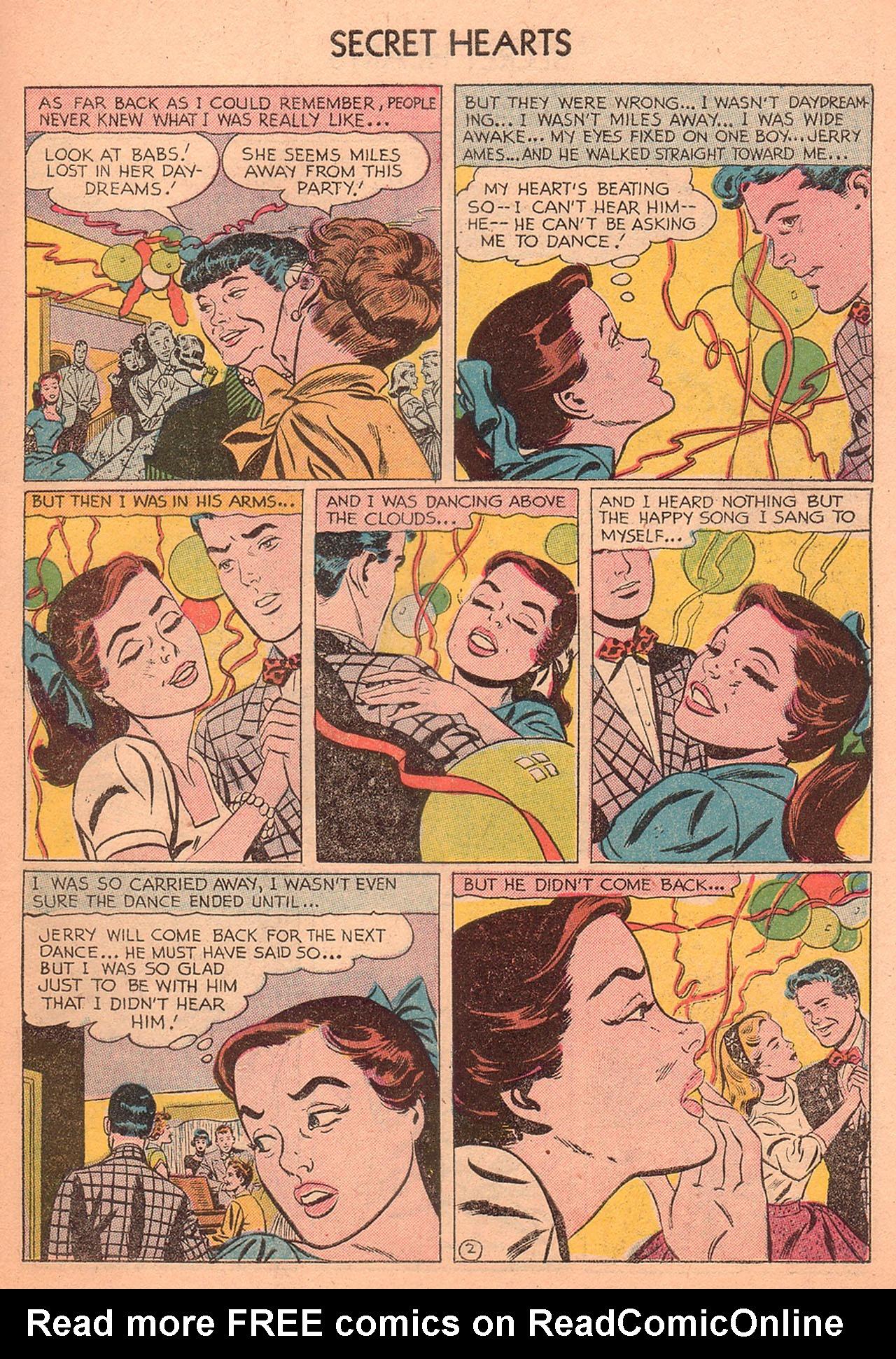 Read online Secret Hearts comic -  Issue #27 - 27