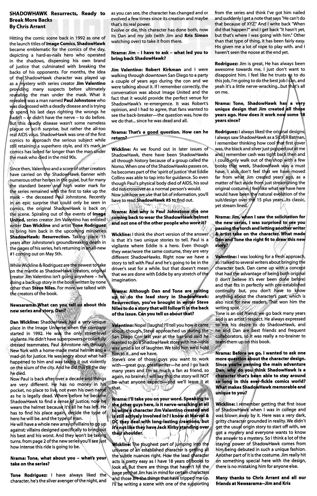 Read online ShadowHawk (2010) comic -  Issue #2 - 28