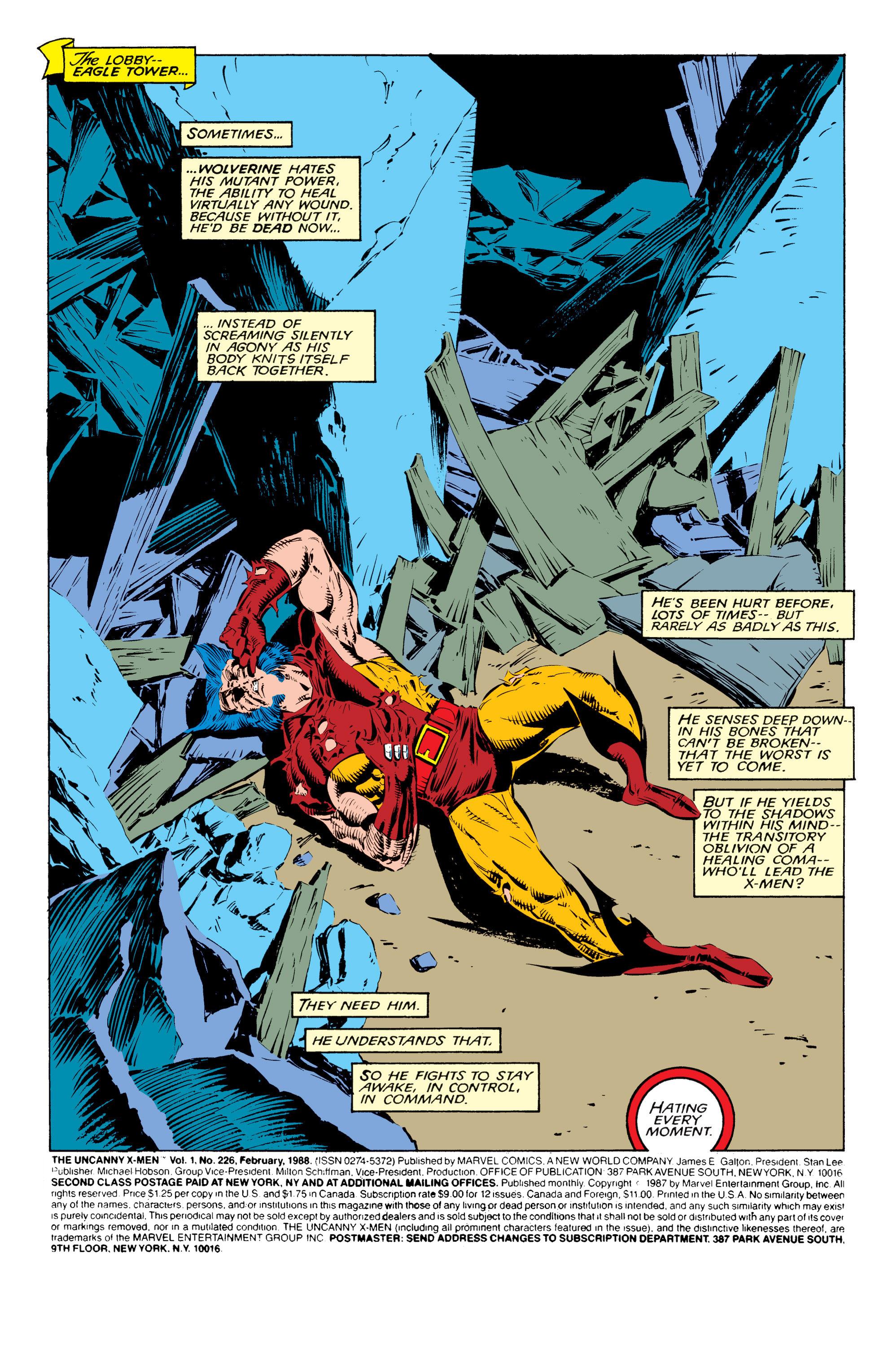 Read online Uncanny X-Men (1963) comic -  Issue #226 - 2