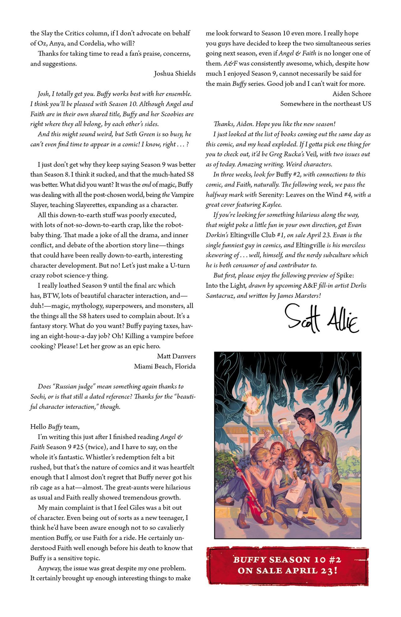 Read online Angel & Faith Season 10 comic -  Issue #1 - 26
