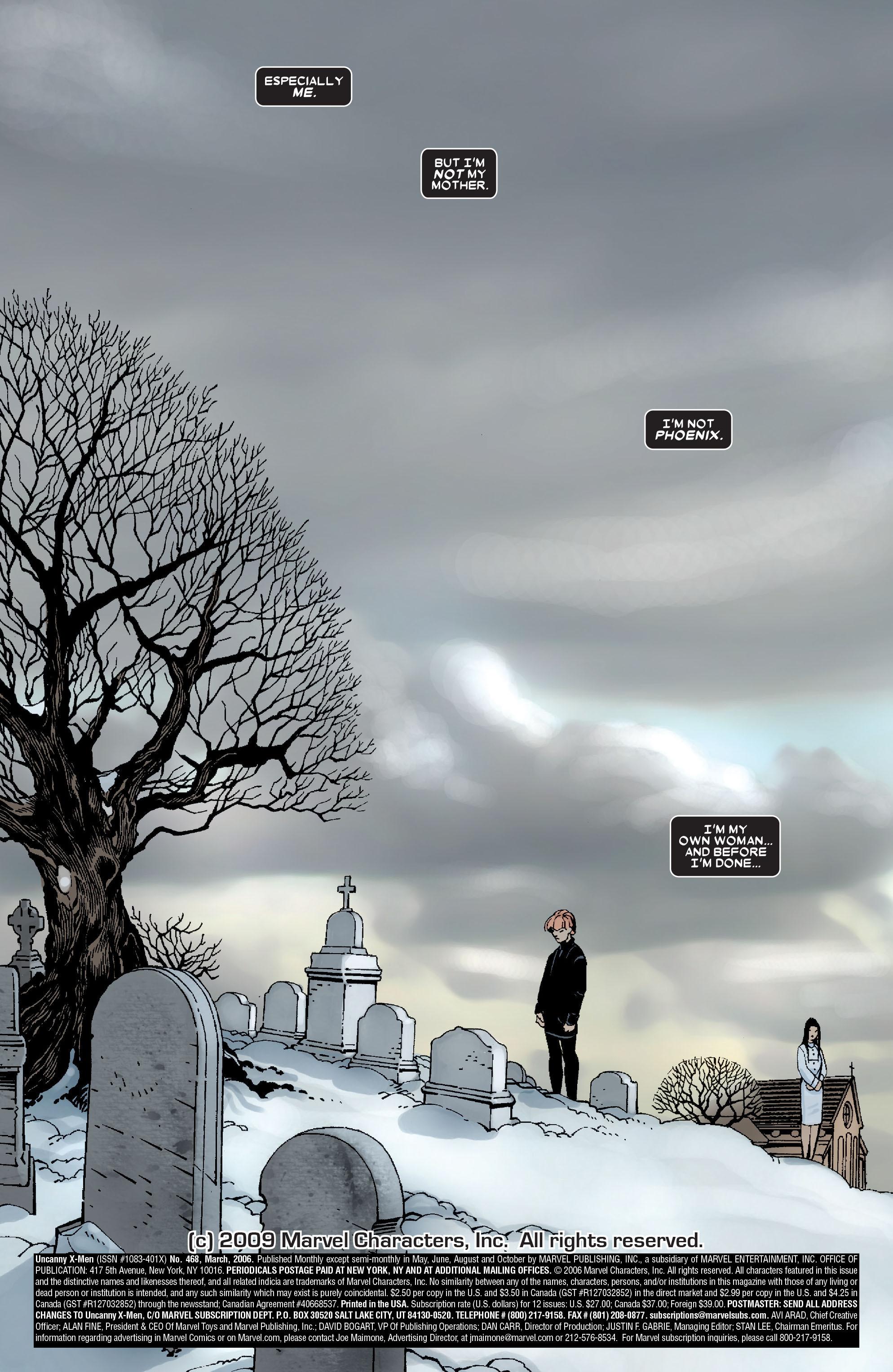Read online Uncanny X-Men (1963) comic -  Issue #468 - 22