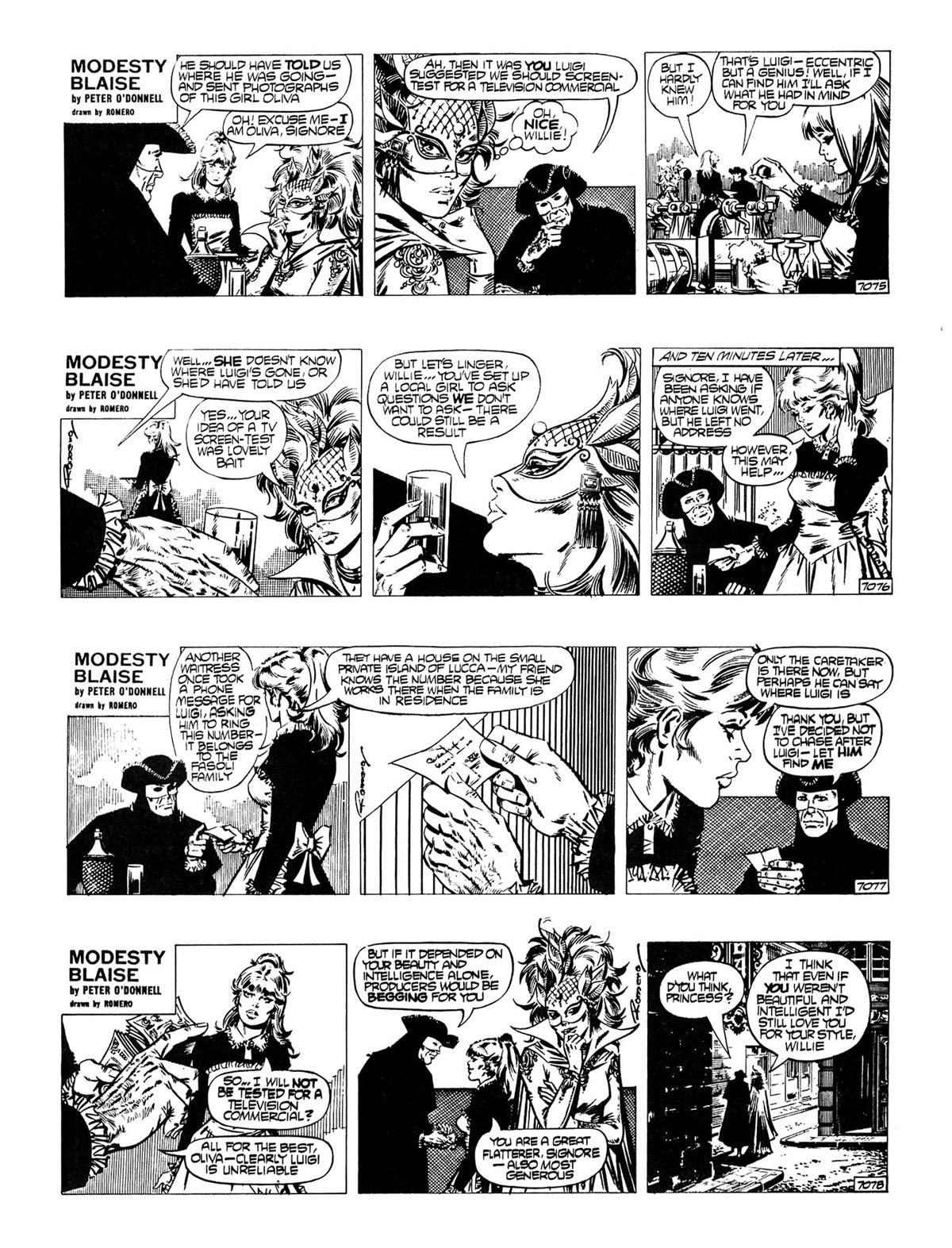 Read online Modesty Blaise Live bait comic -  Issue # TPB - 14