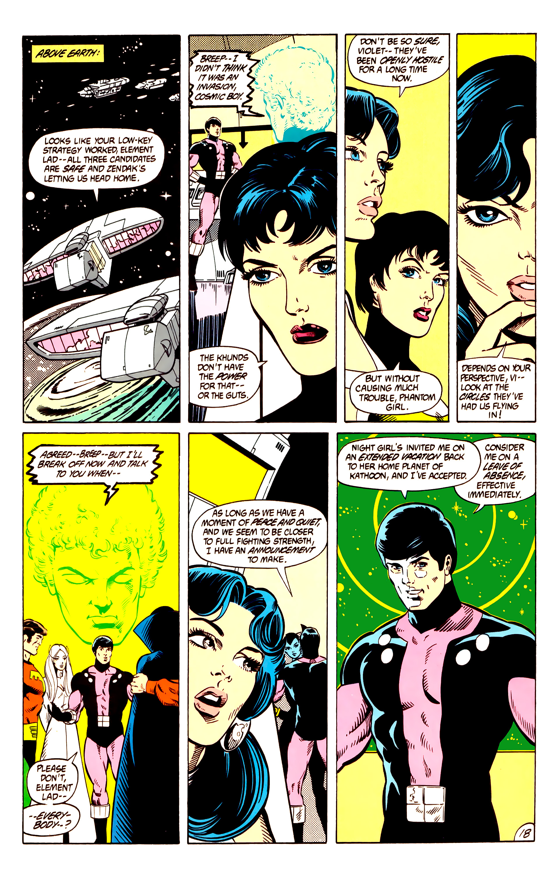 Legion of Super-Heroes (1984) 10 Page 19