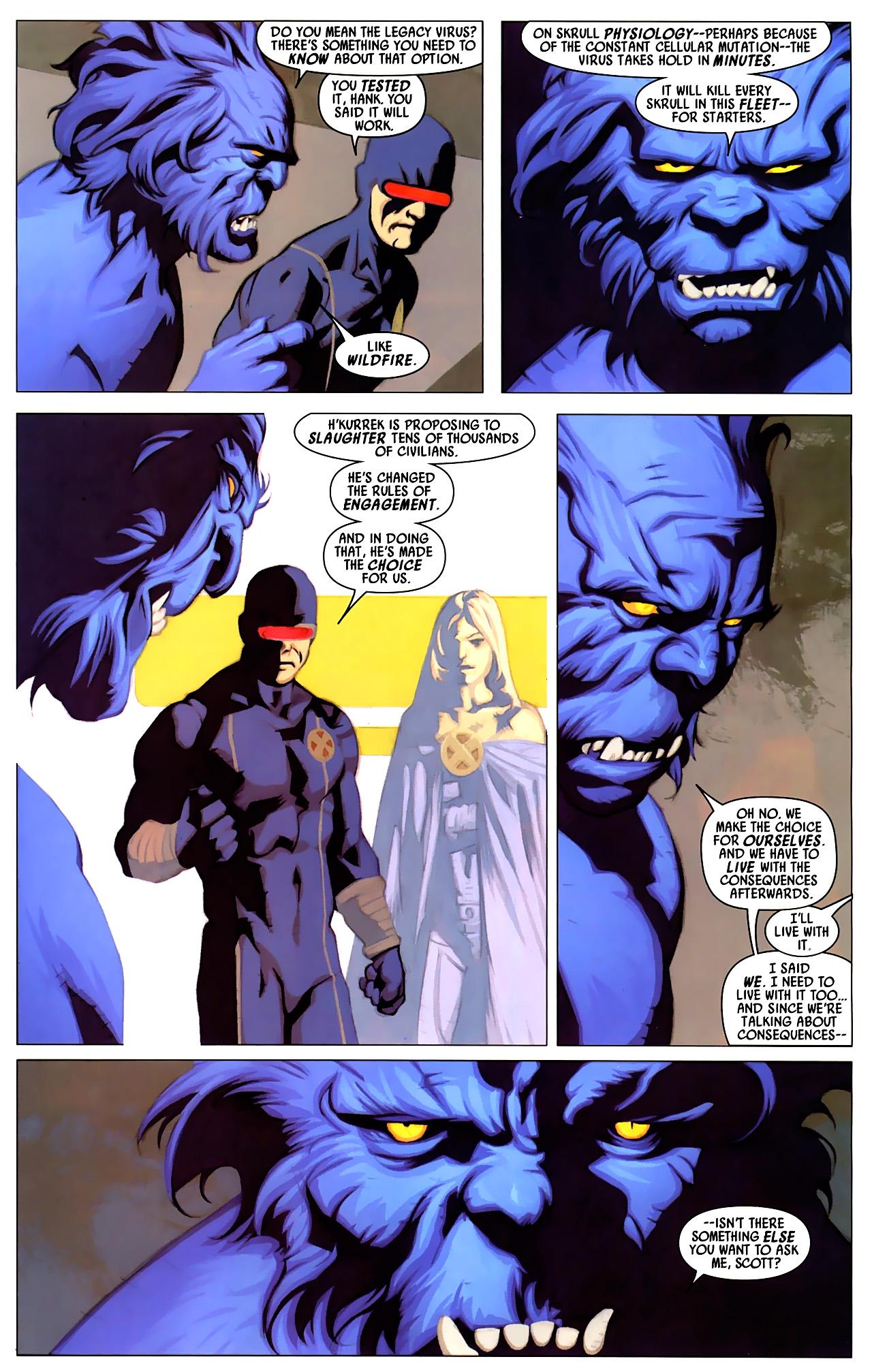 Read online Secret Invasion: X-Men comic -  Issue #4 - 6
