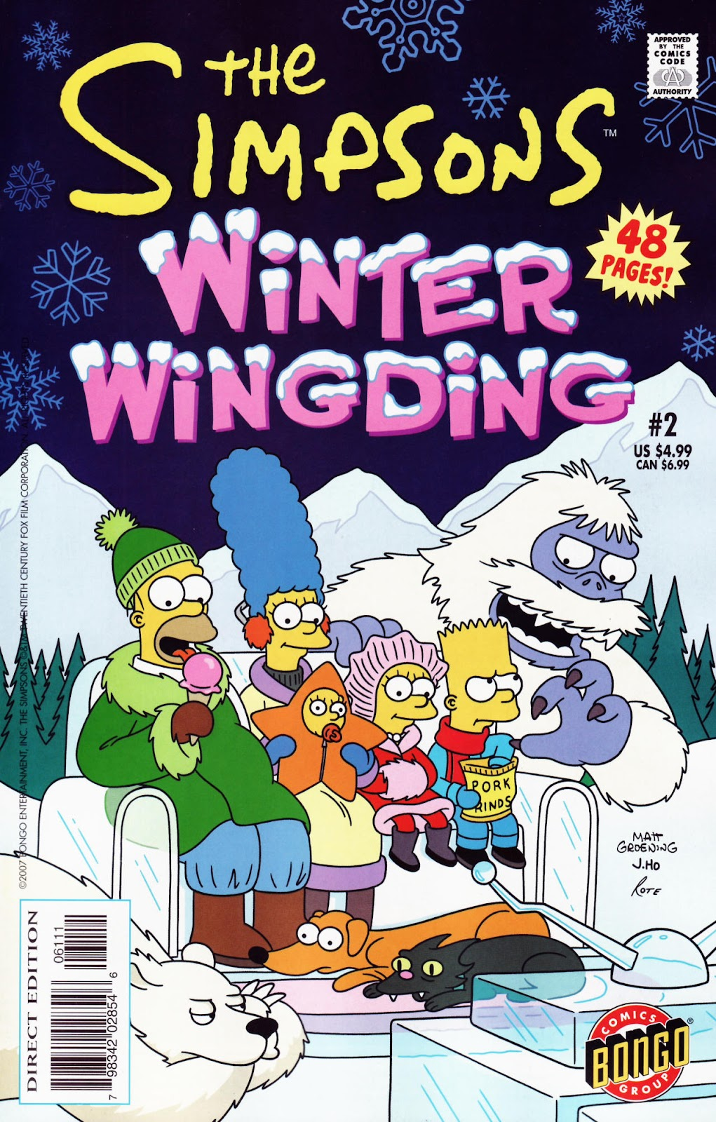 Read online The Simpsons Winter Wingding comic -  Issue #2 - 1