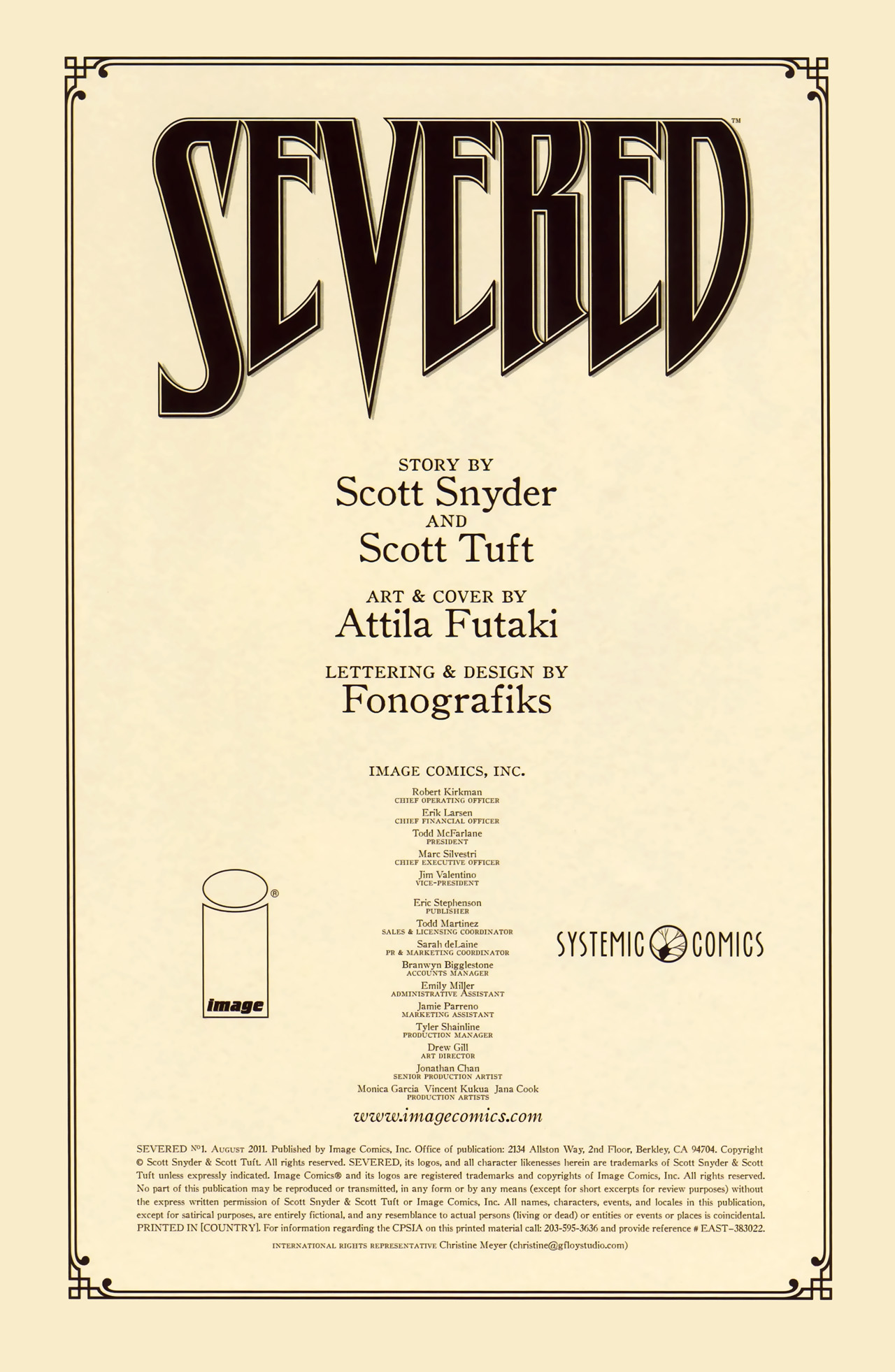 Read online Severed comic -  Issue #1 - 2