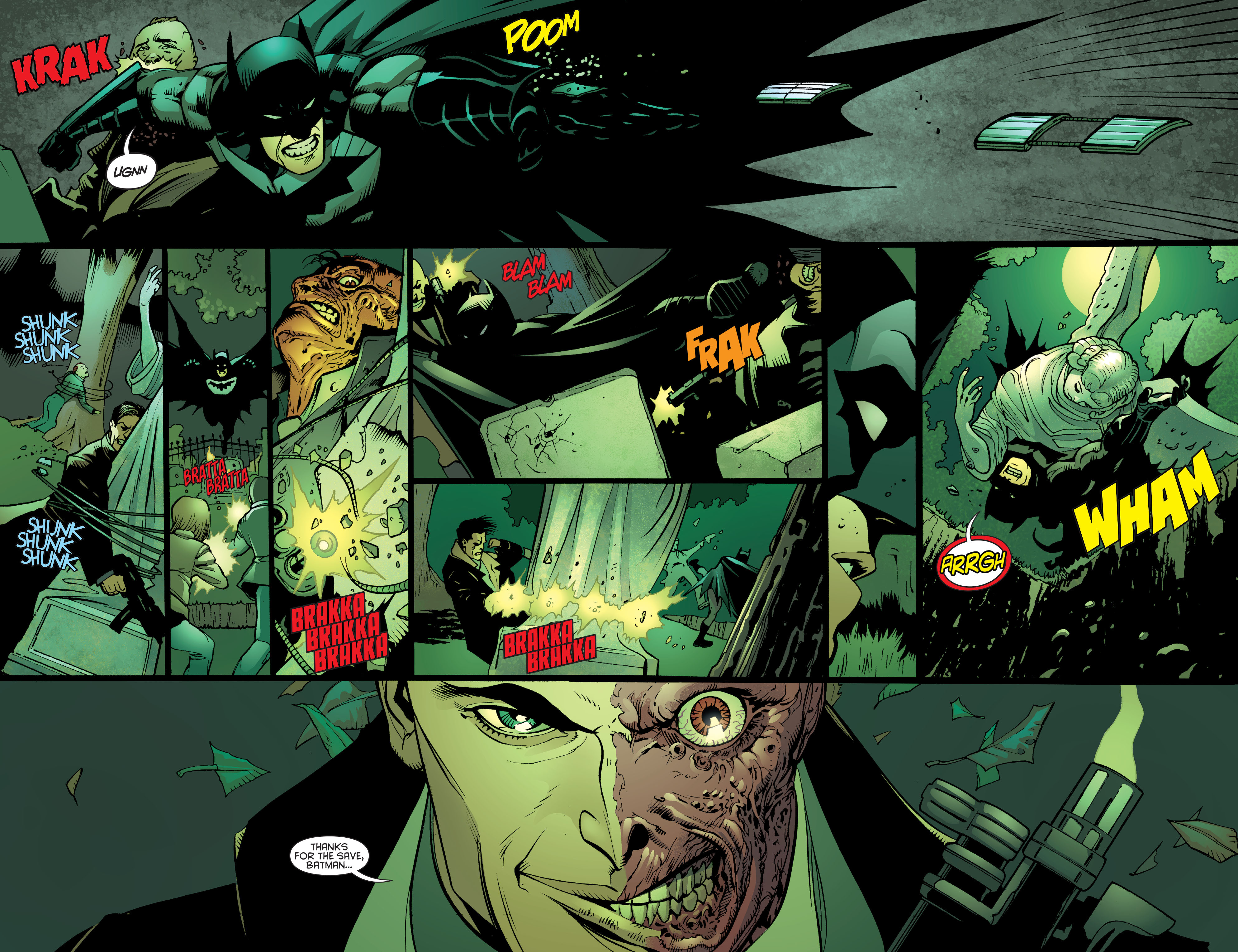 Read online Batman and Robin (2011) comic -  Issue #26 - Batman and Two-Face - 18