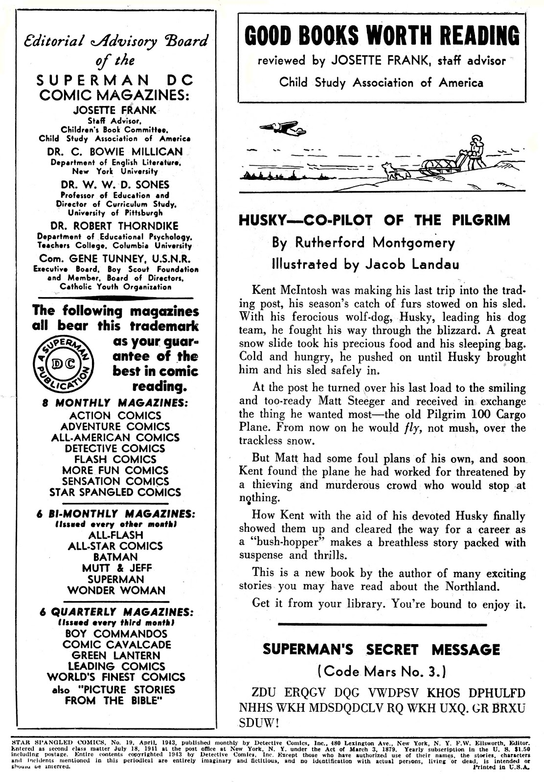 Star Spangled Comics (1941) issue 19 - Page 2