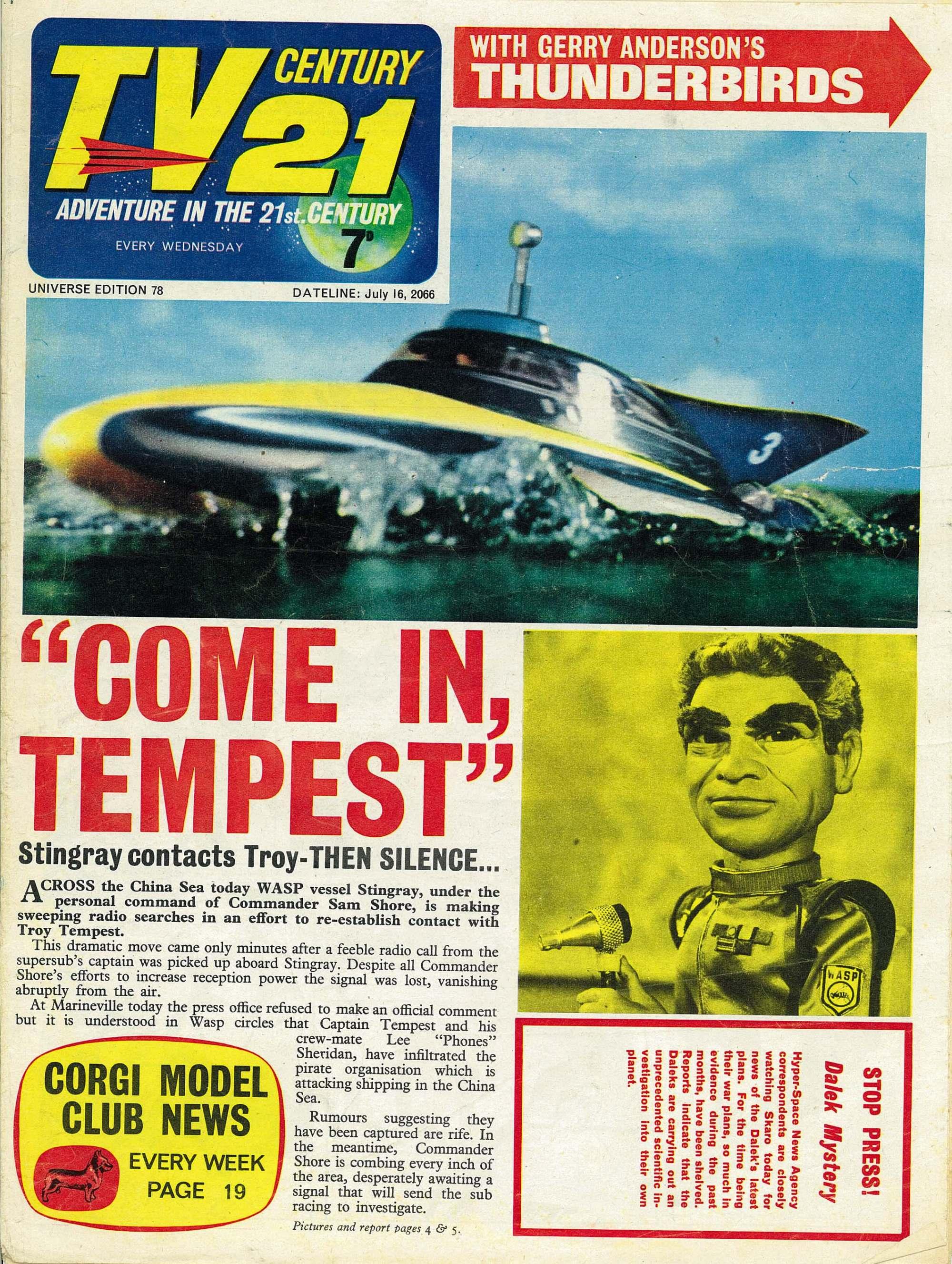 Read online TV Century 21 (TV 21) comic -  Issue #78 - 1