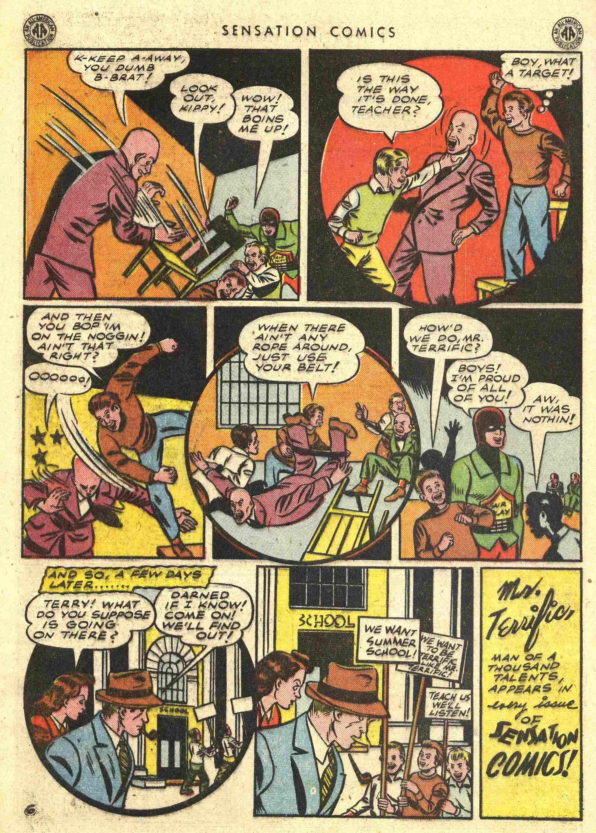 Read online Sensation (Mystery) Comics comic -  Issue #42 - 40