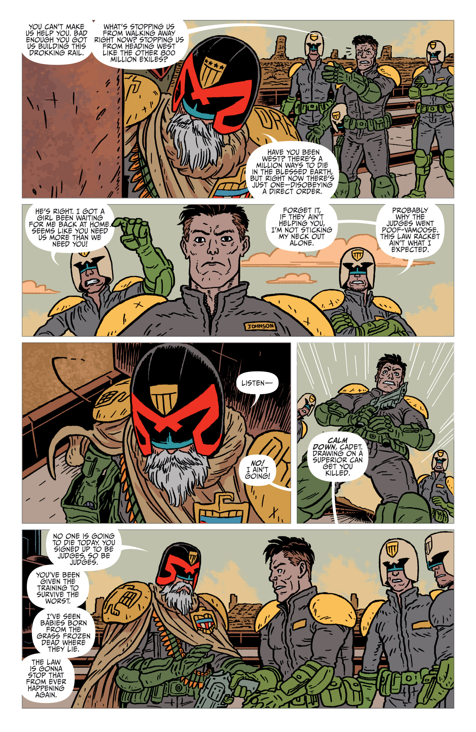 Read online Judge Dredd: The Blessed Earth comic -  Issue #1 - 10