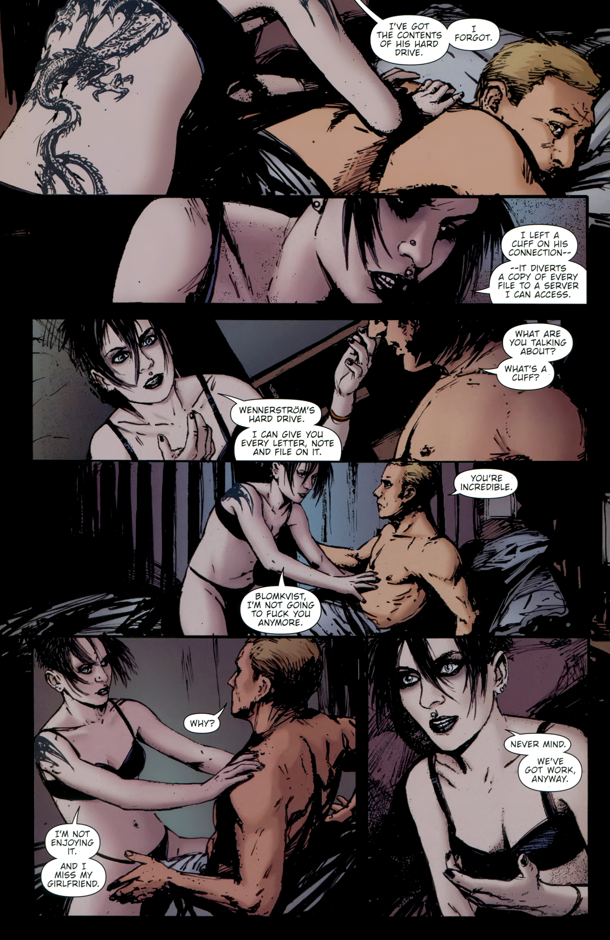 Read online The Girl With the Dragon Tattoo comic -  Issue # TPB 2 - 146