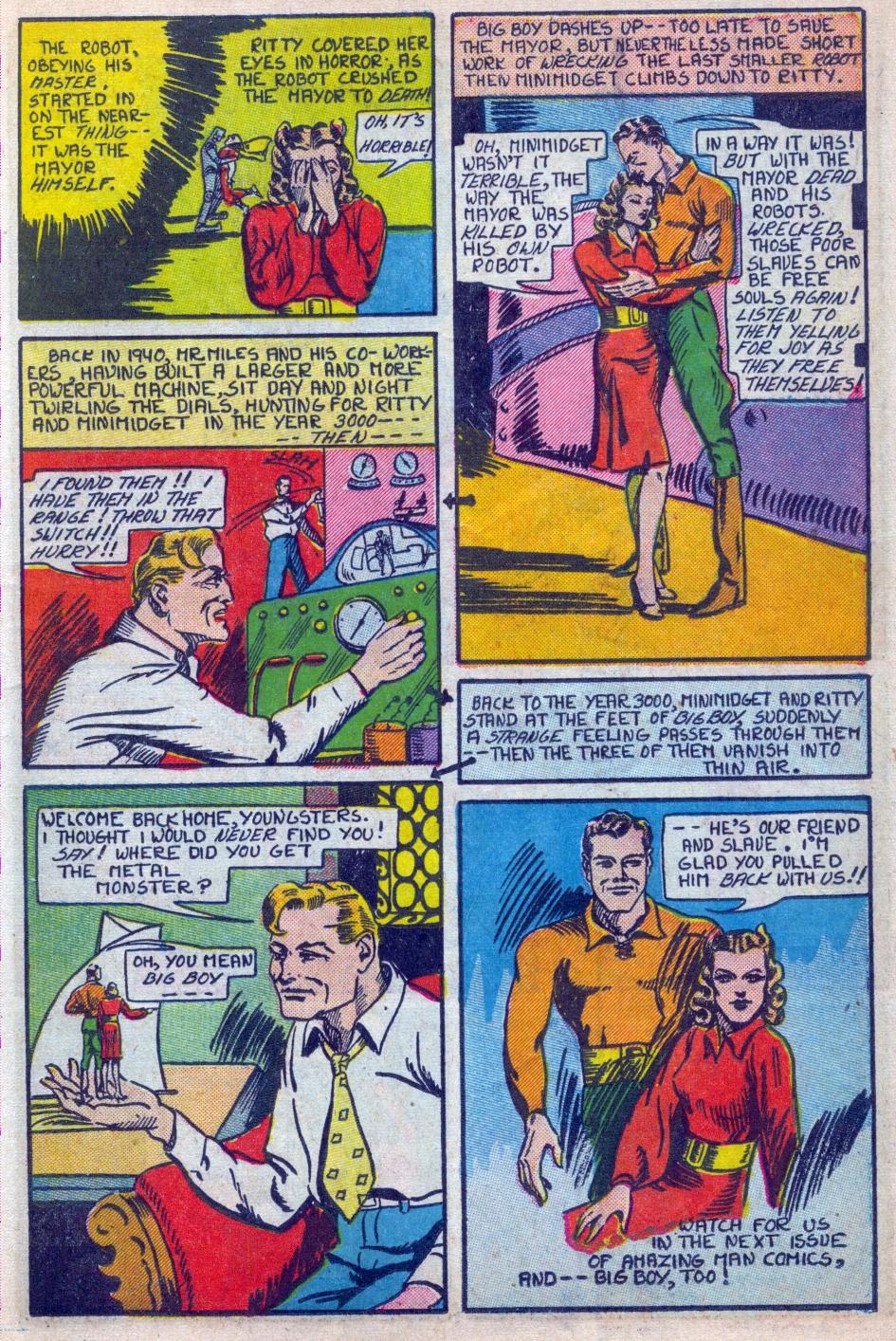 Read online Amazing Man Comics comic -  Issue #15 - 18