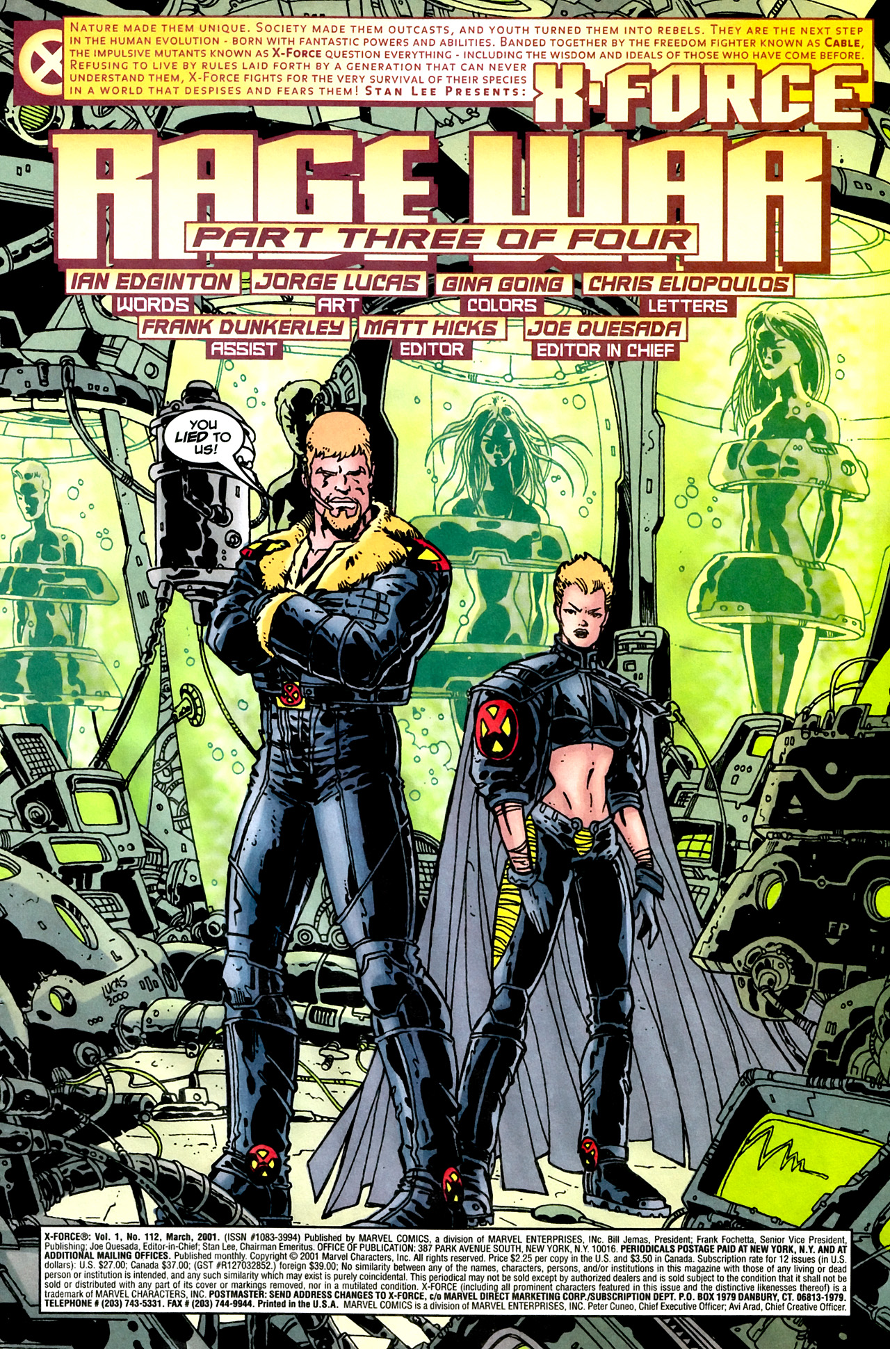 Read online X-Force (1991) comic -  Issue #112 - 3