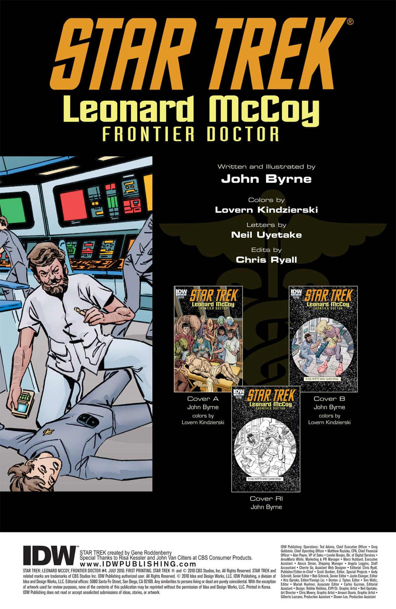 Read online Star Trek: Leonard McCoy, Frontier Doctor comic -  Issue #4 - 4