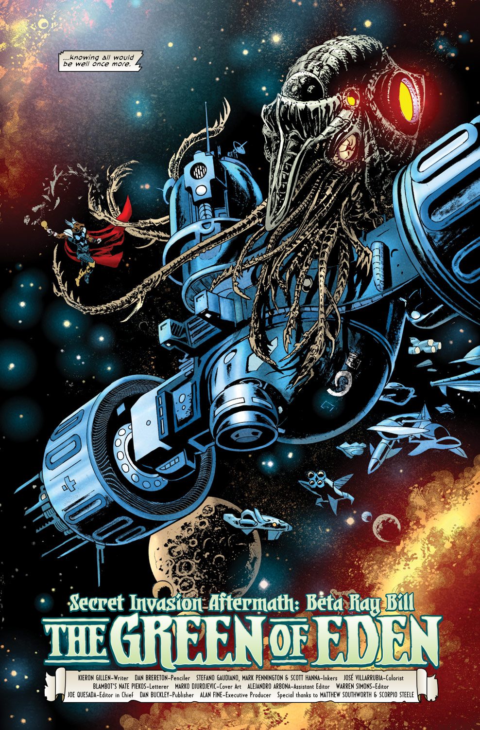 Read online Secret Invasion Aftermath: Beta Ray Bill - The Green of Eden comic -  Issue # Full - 4