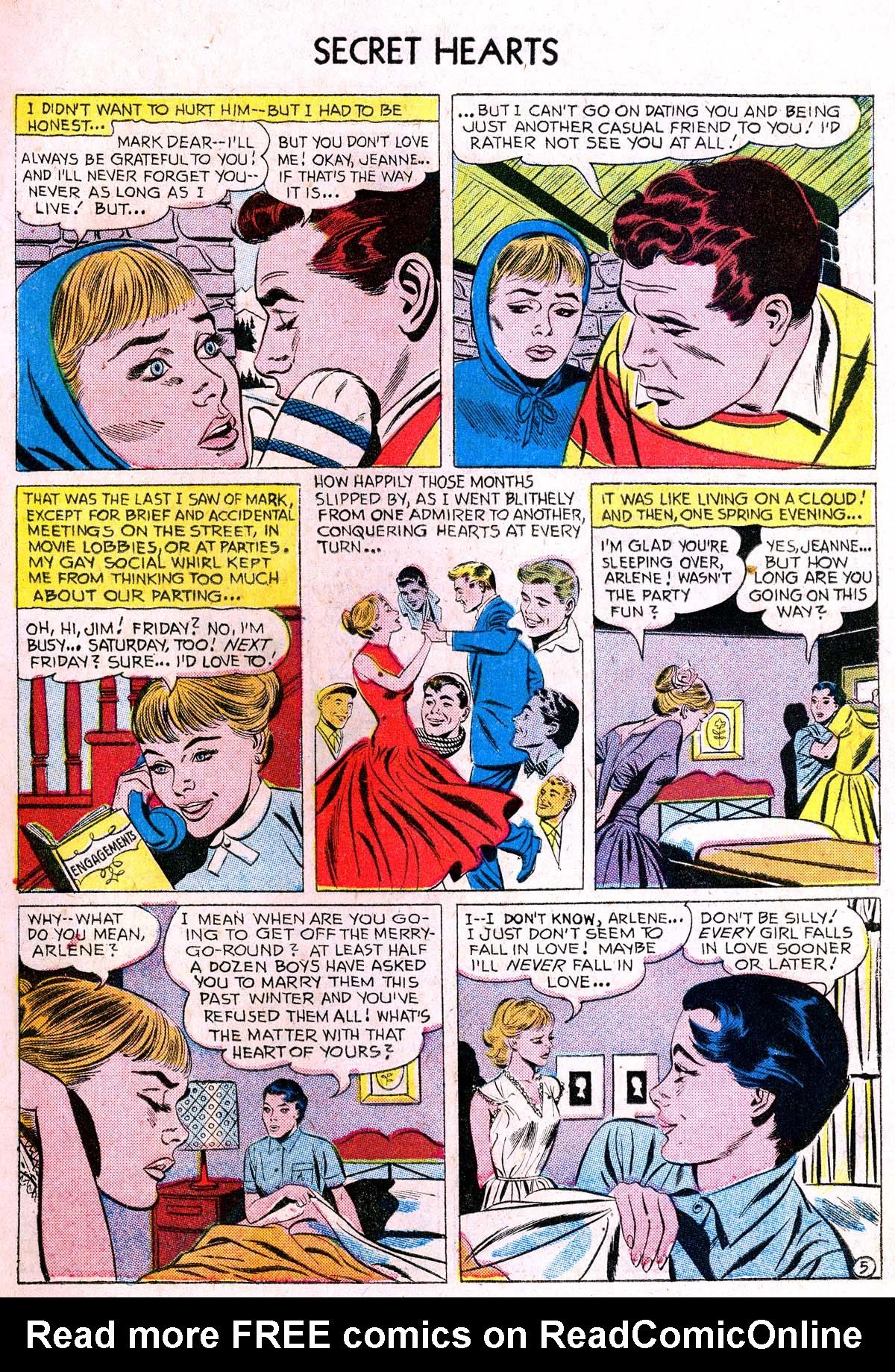 Read online Secret Hearts comic -  Issue #38 - 7