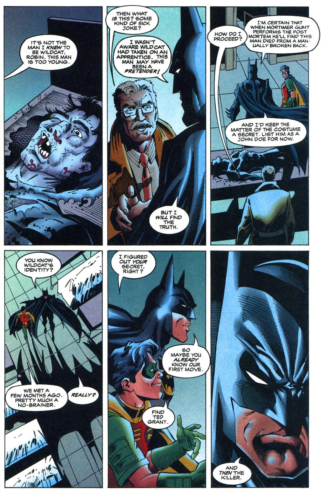 Read online Batman/Wildcat comic -  Issue #1 - 9