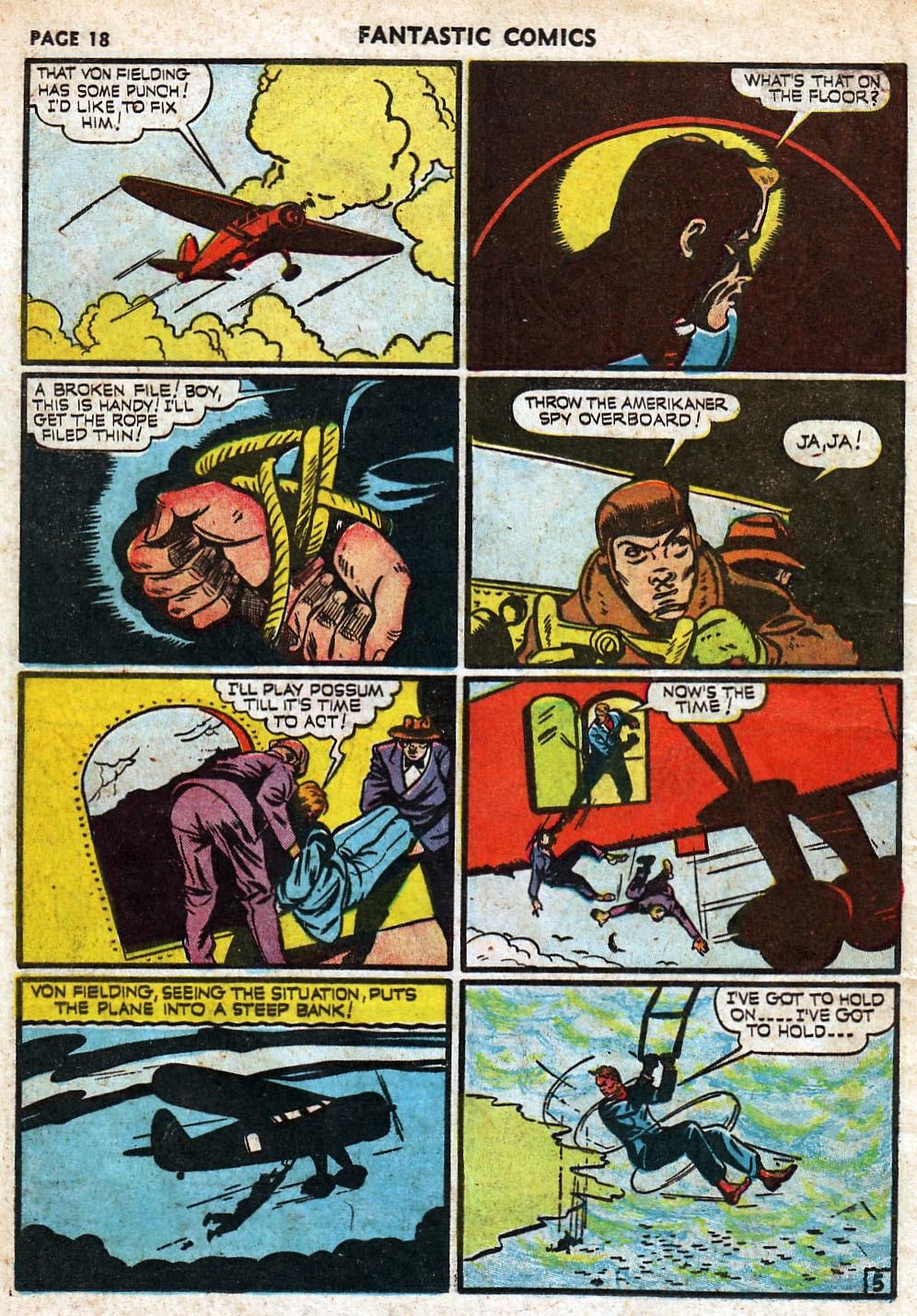 Read online Fantastic Comics comic -  Issue #18 - 20