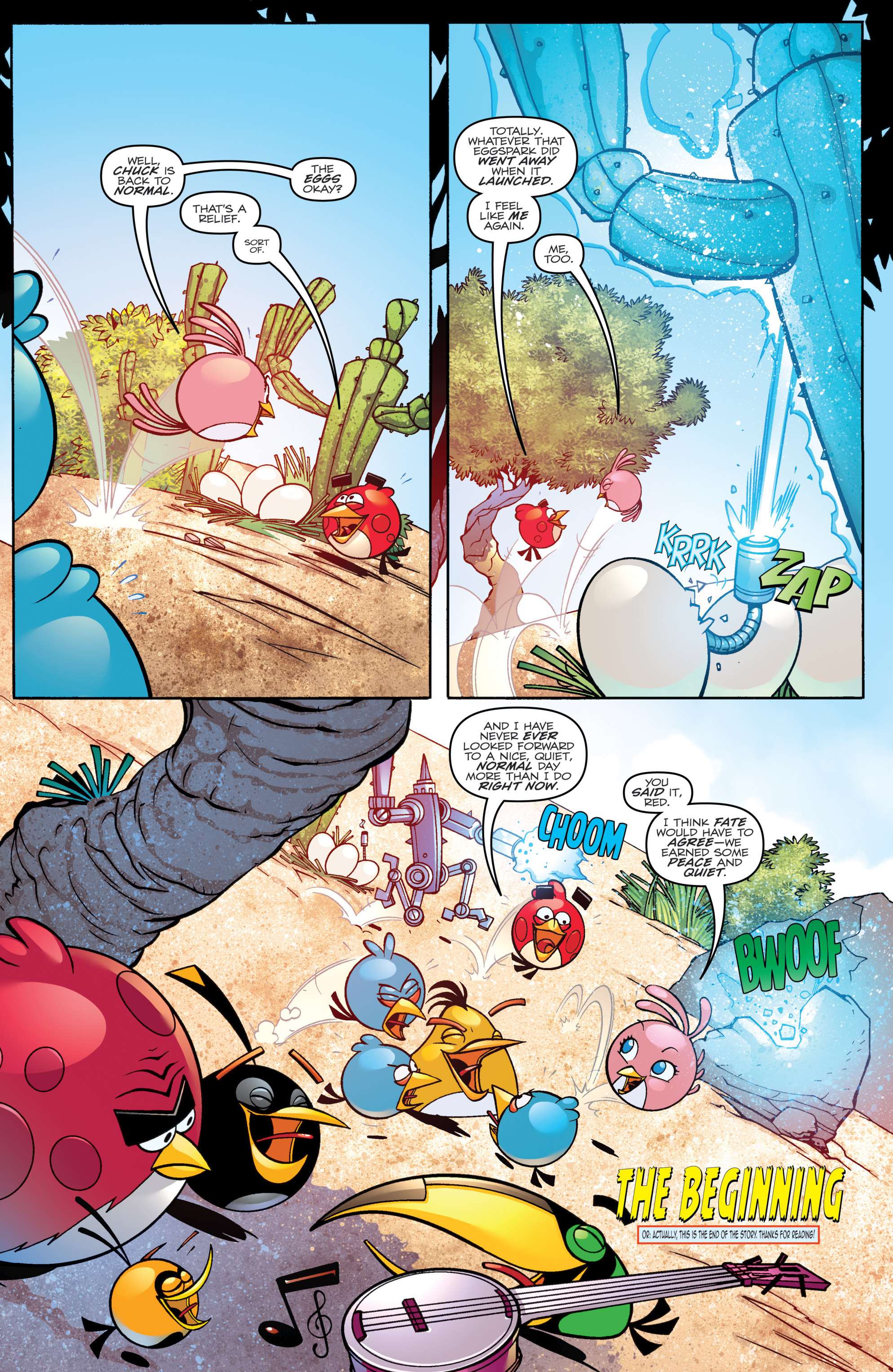 Read online Angry Birds Transformers comic -  Issue #4 - 22