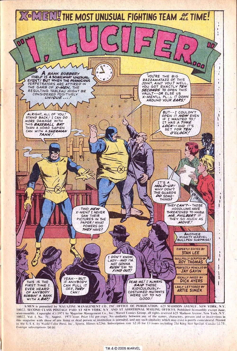 Uncanny X-Men (1963) issue 71 - Page 3