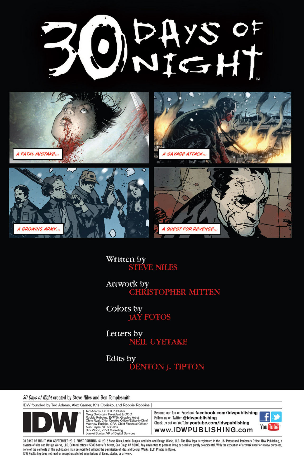Read online 30 Days of Night (2011) comic -  Issue #10 - 2