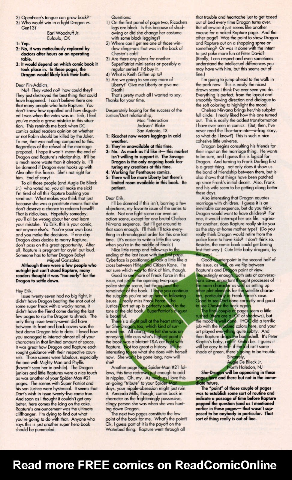 The Savage Dragon (1993) Issue #29 #32 - English 29
