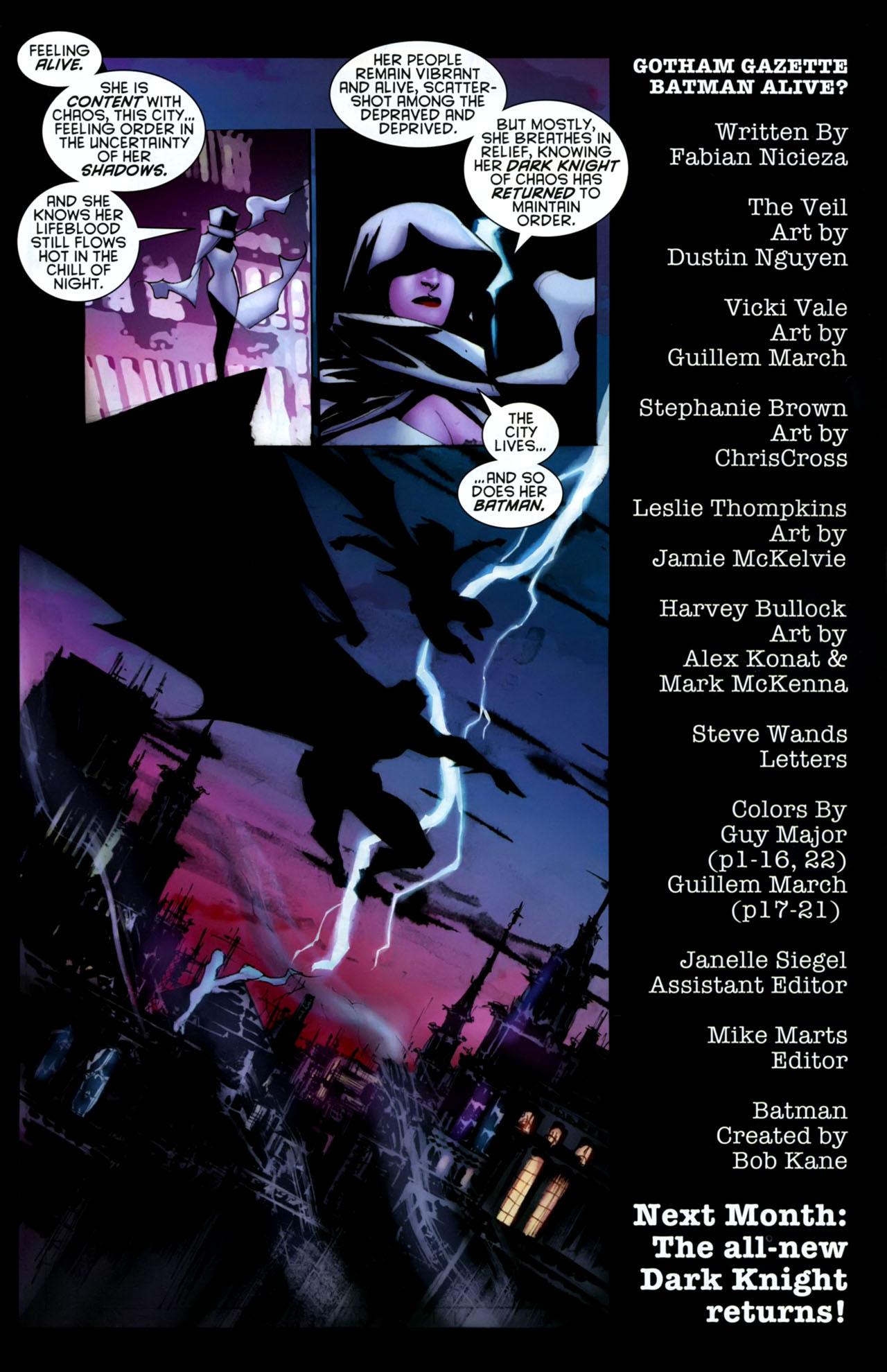 Read online Gotham Gazette comic -  Issue # Issue Batman Alive - 23