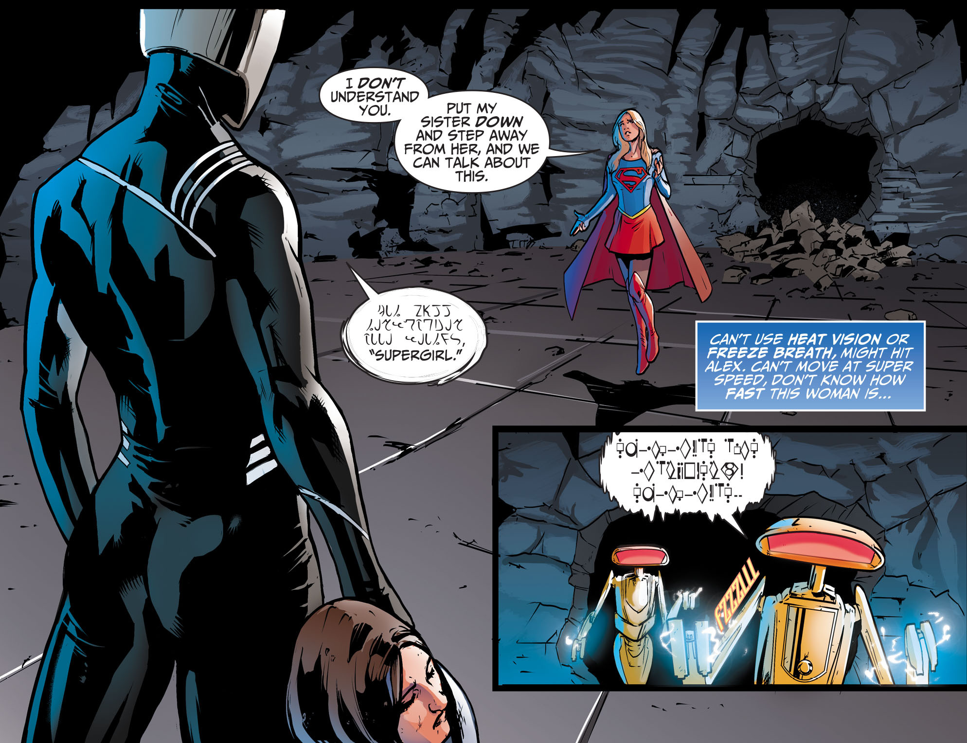 Read online Adventures of Supergirl comic -  Issue #9 - 10
