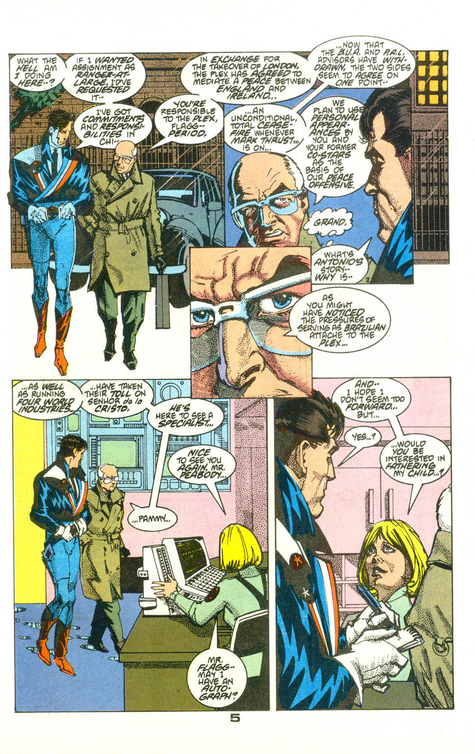 Read online American Flagg! comic -  Issue #23 - 6