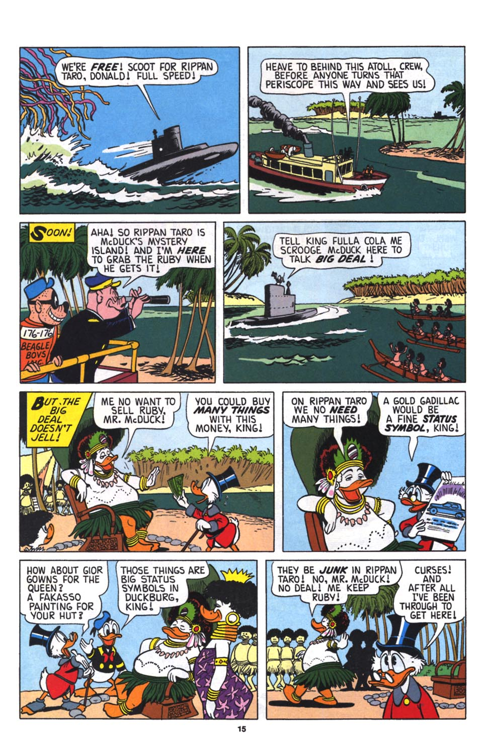 Read online Uncle Scrooge (1953) comic -  Issue #256 - 16