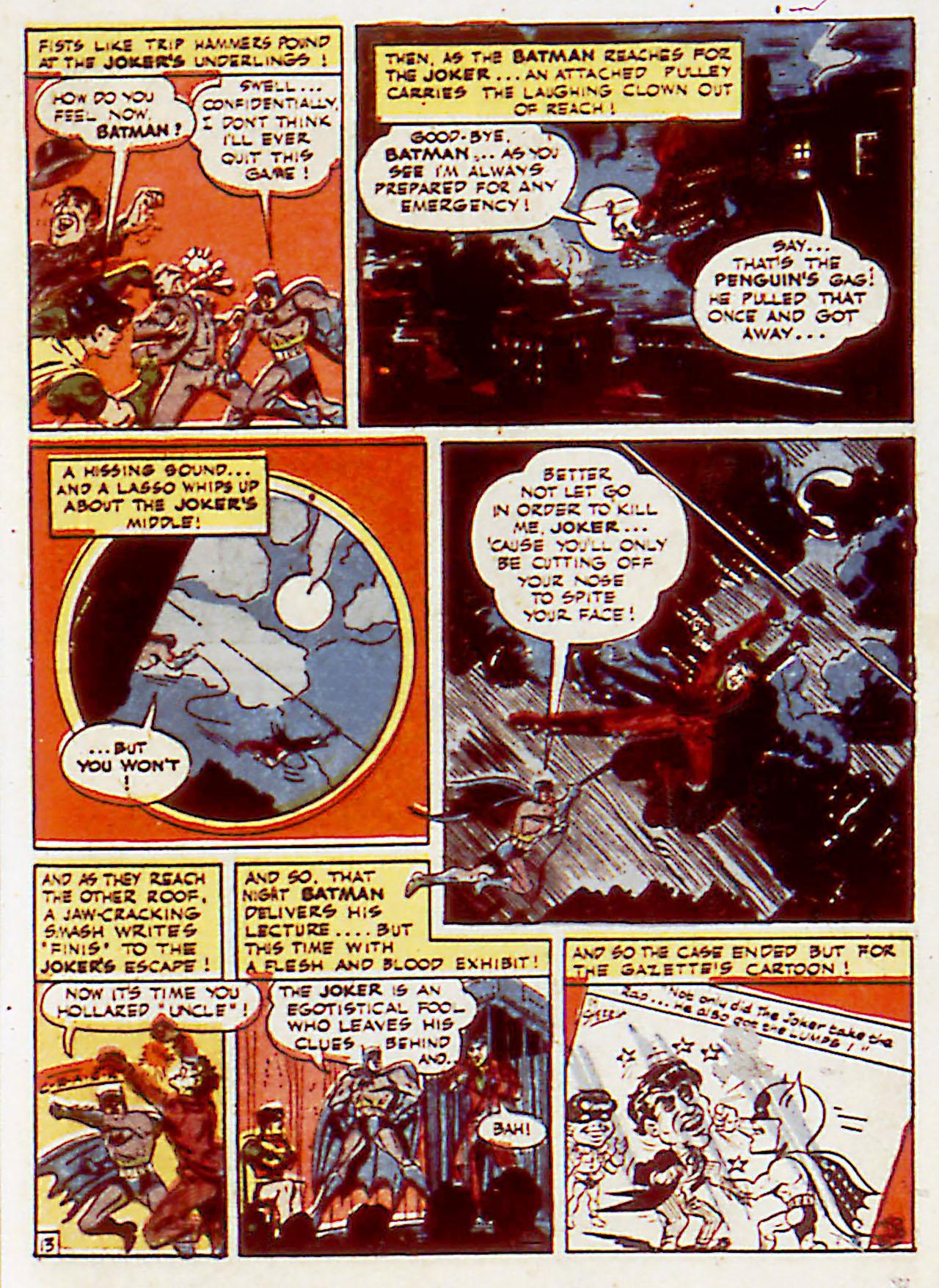 Read online Detective Comics (1937) comic -  Issue #71 - 15