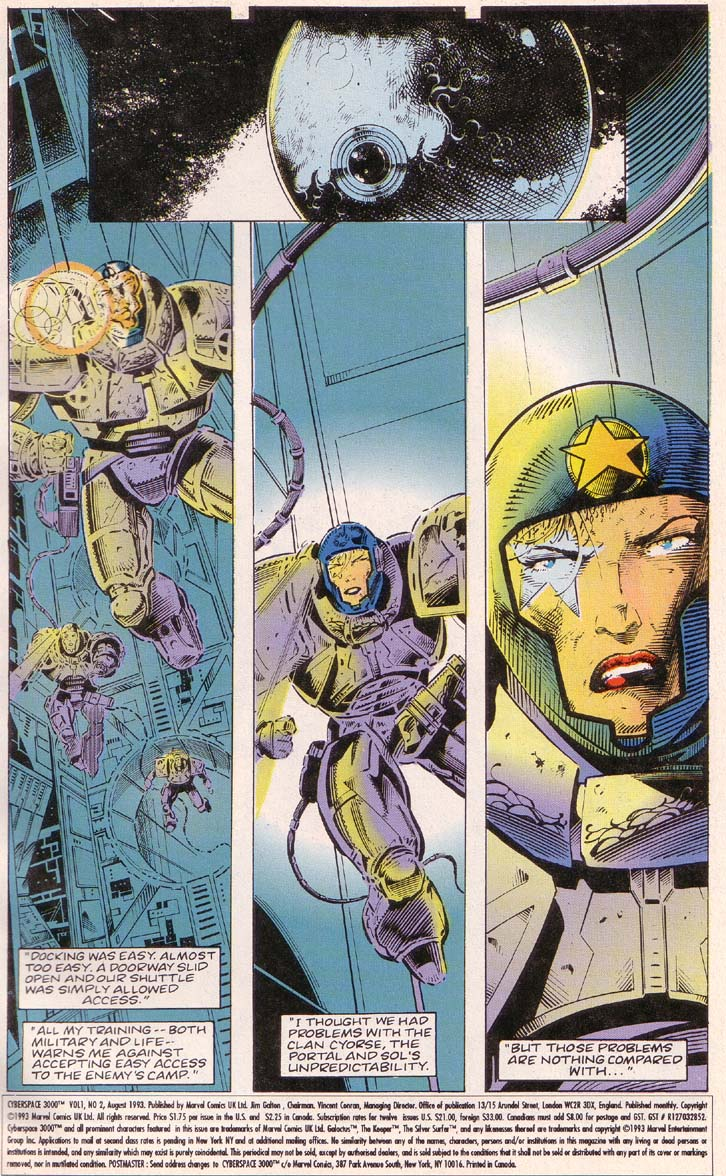 Read online Cyberspace 3000 comic -  Issue #2 - 2