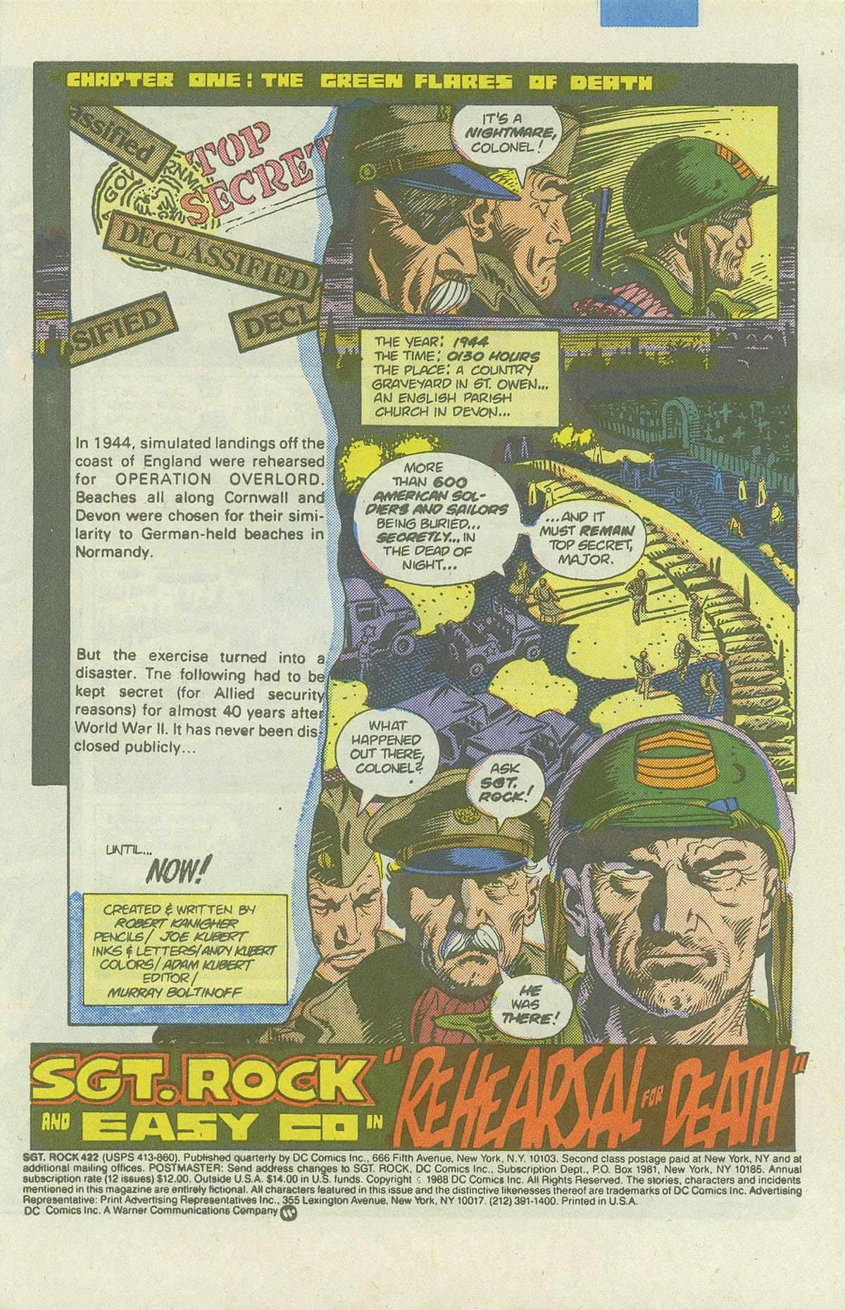 Read online Sgt. Rock comic -  Issue #422 - 3