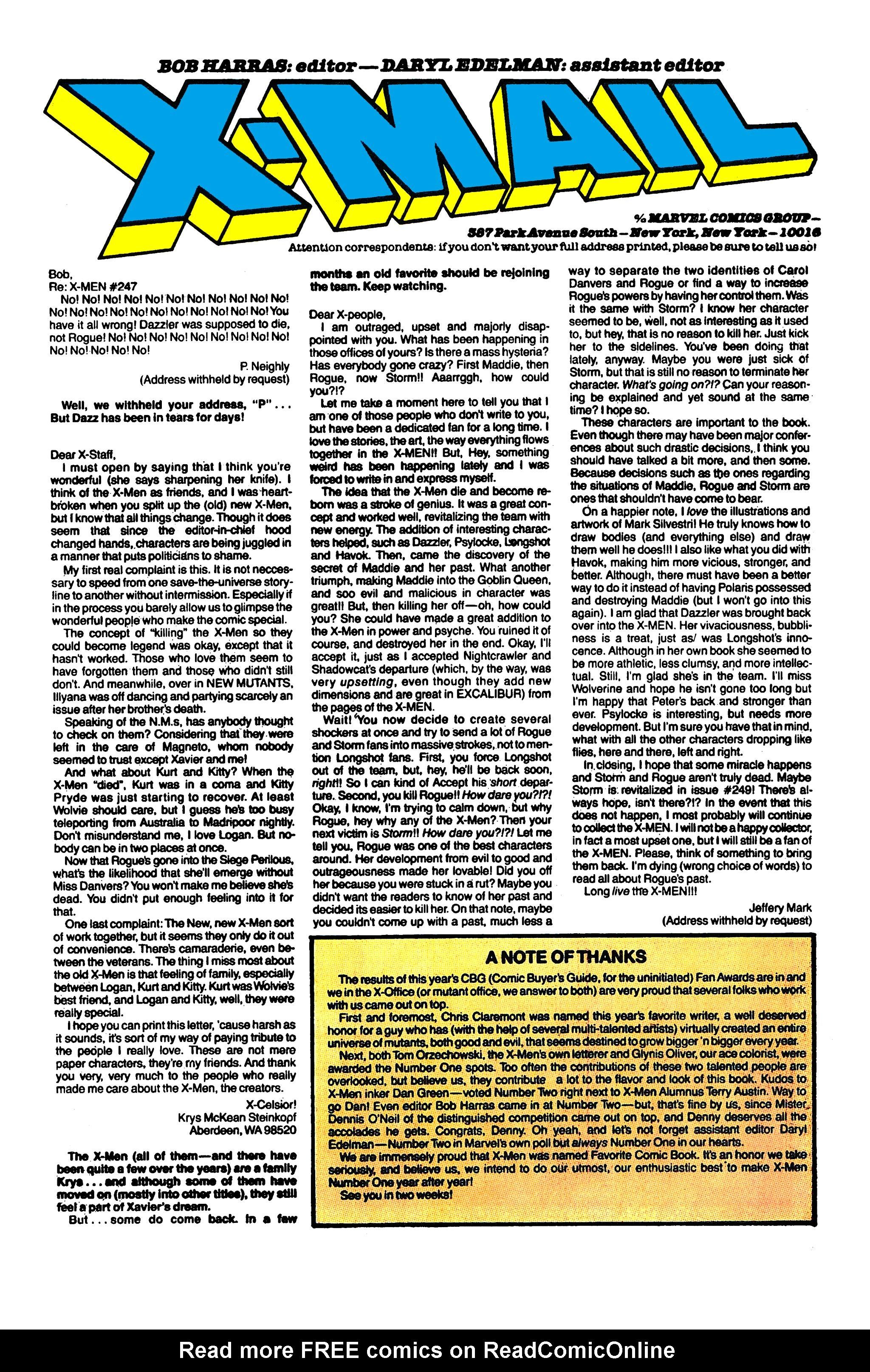 Read online Uncanny X-Men (1963) comic -  Issue #253 - 25