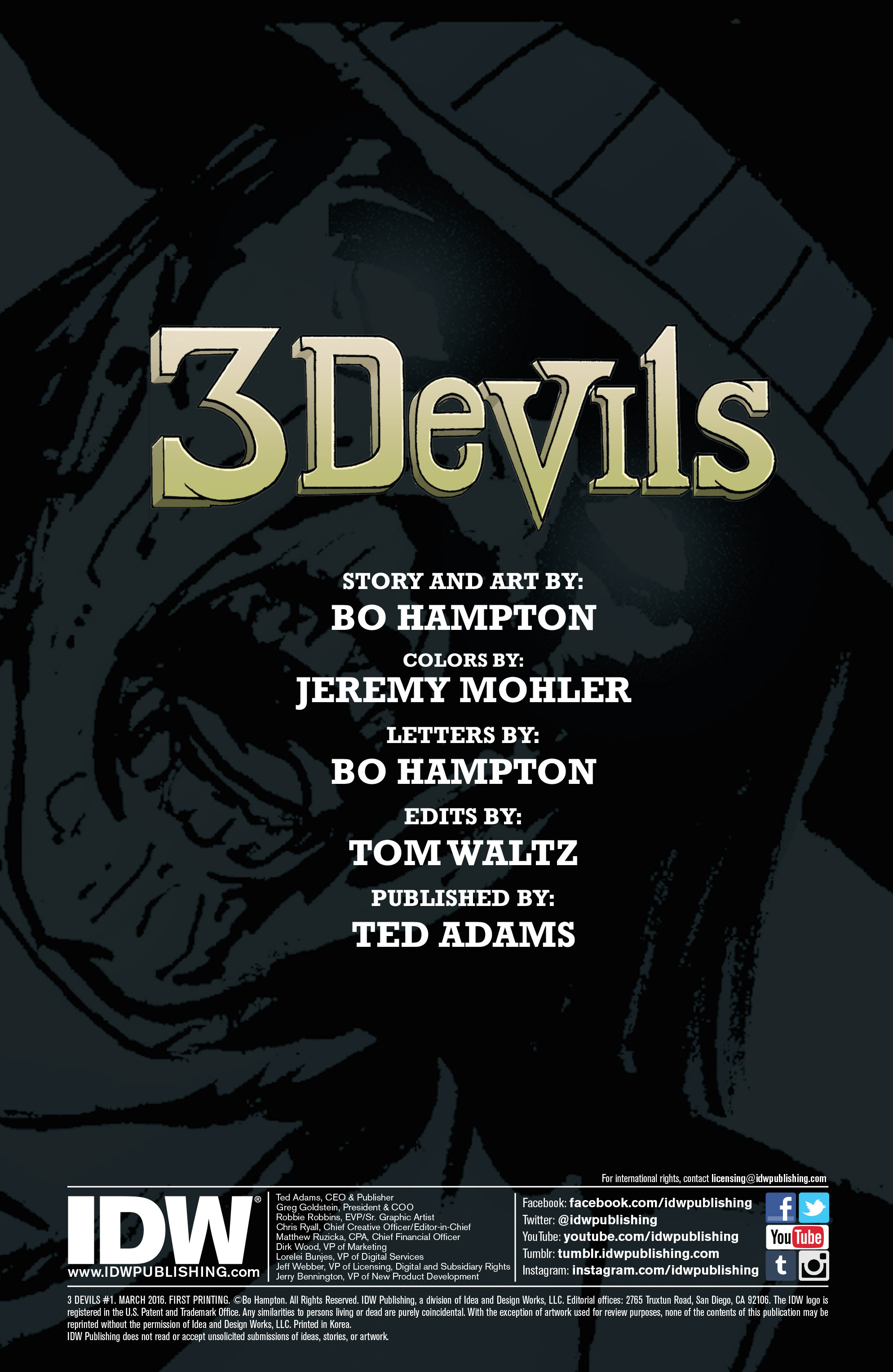 Read online 3 Devils comic -  Issue #1 - 2