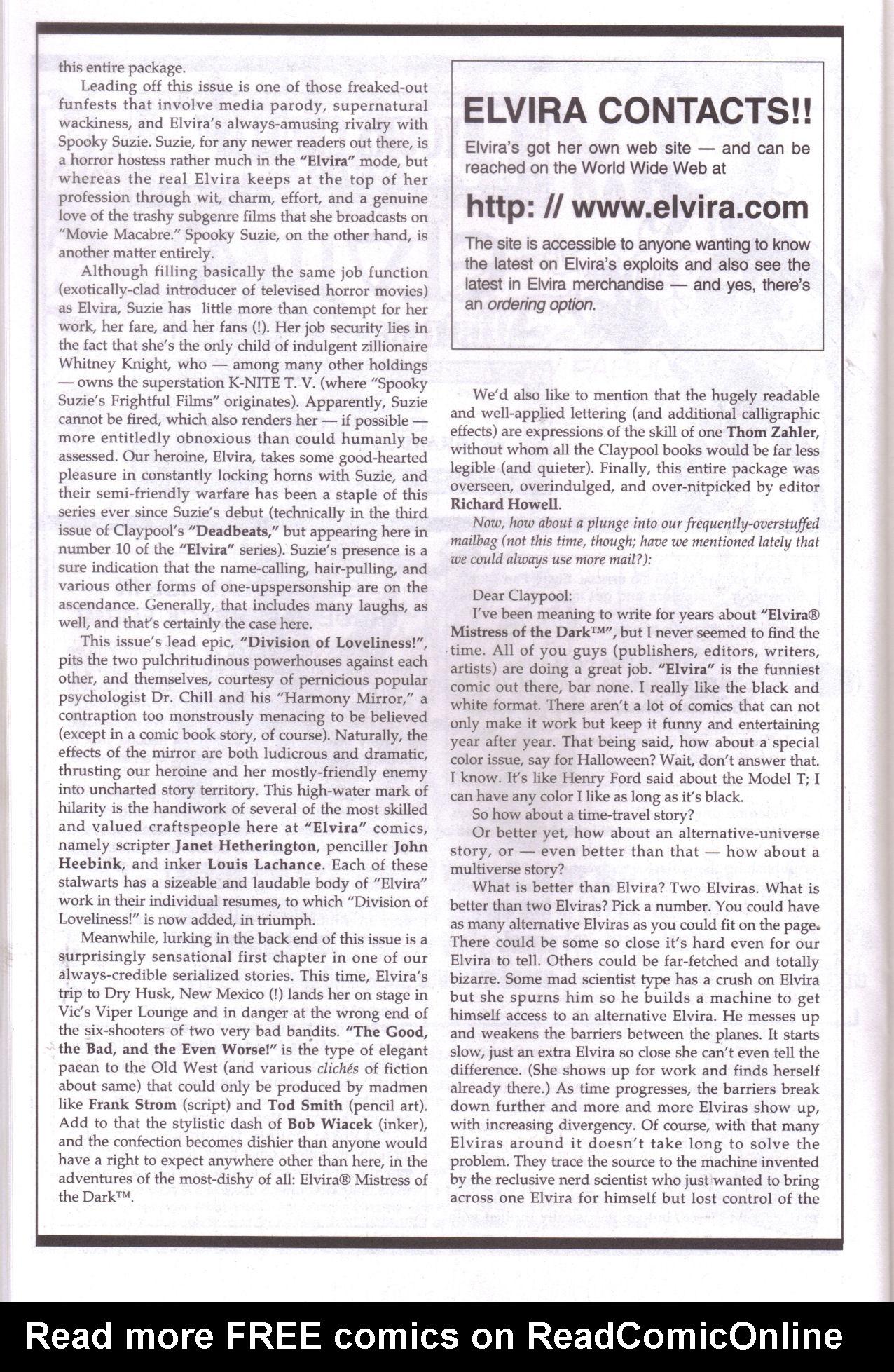 Read online Elvira, Mistress of the Dark comic -  Issue #159 - 20