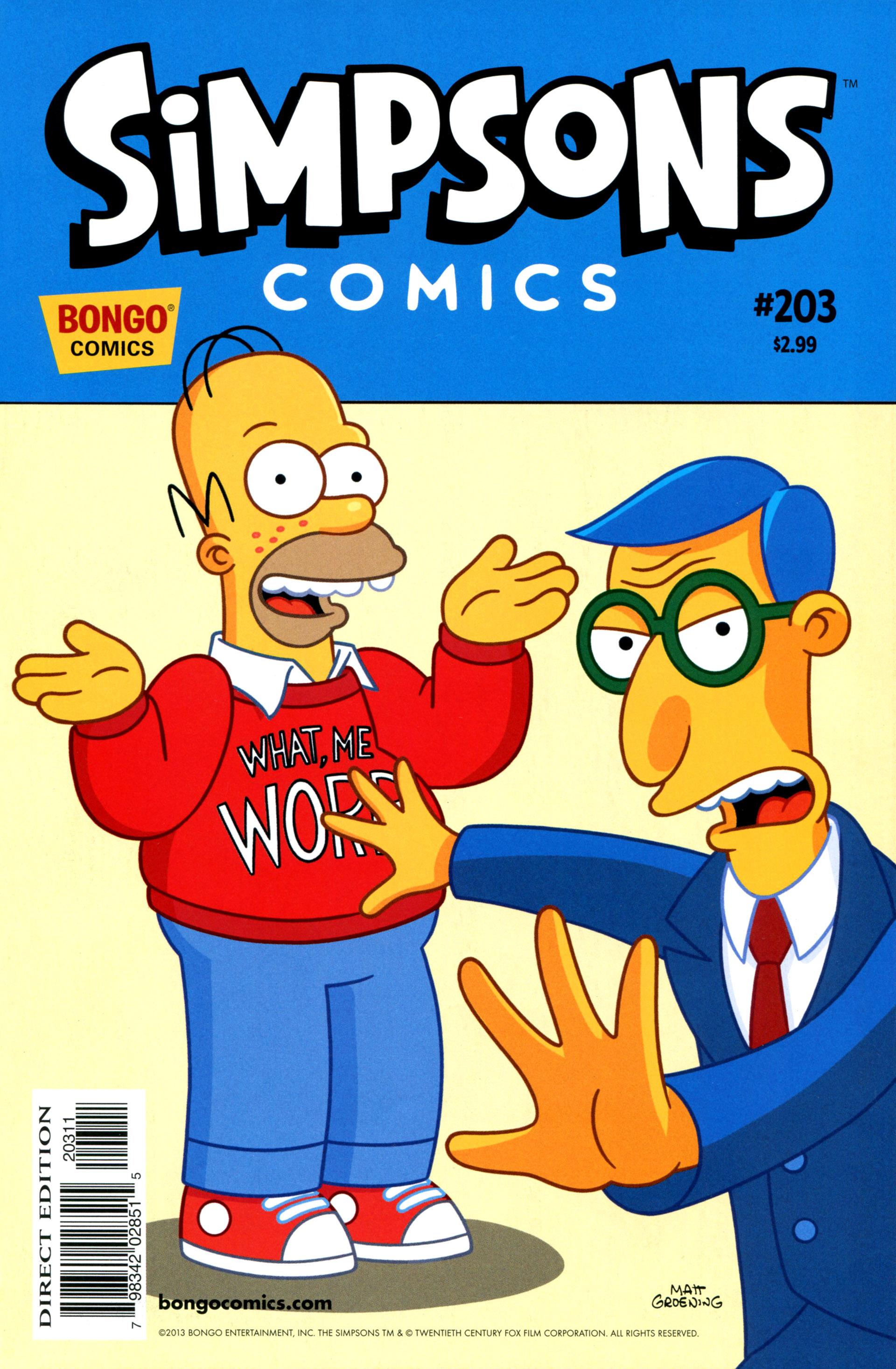 Read online Simpsons Comics comic -  Issue #203 - 1