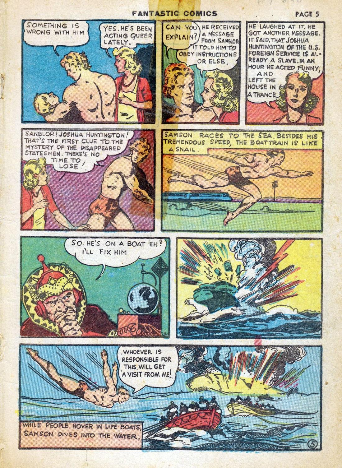 Read online Fantastic Comics comic -  Issue #7 - 7
